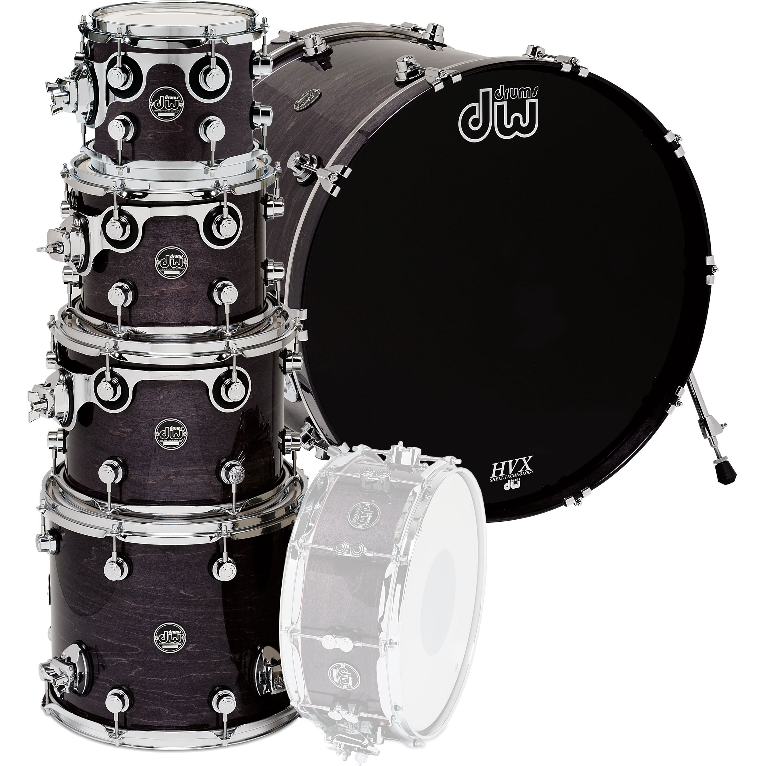 "DW Performance 5-Piece Drum Set Shell Pack (22"" Bass, 10/12/14/16"" Toms)"