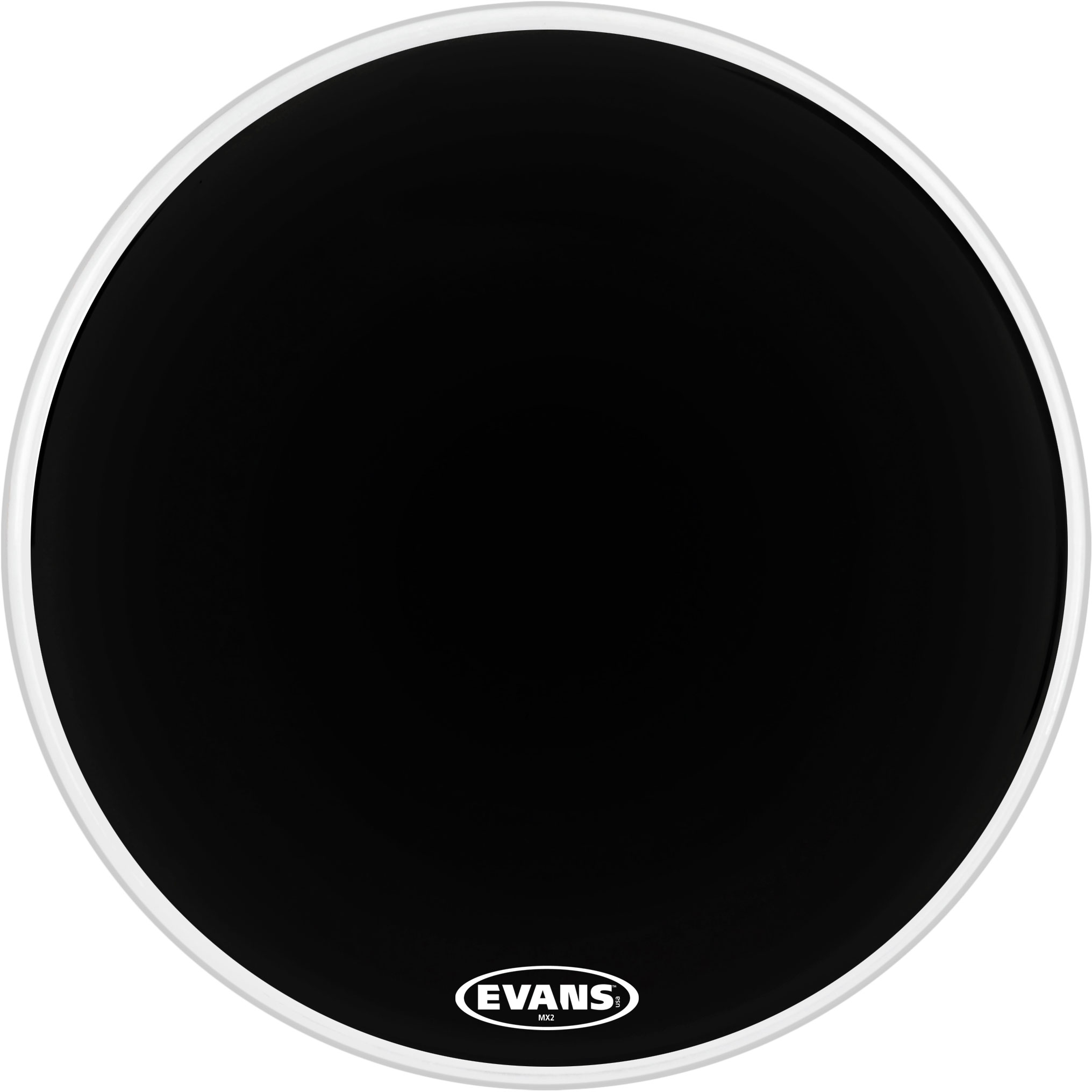 "Evans 16"" MX2 Black Marching Bass Head"