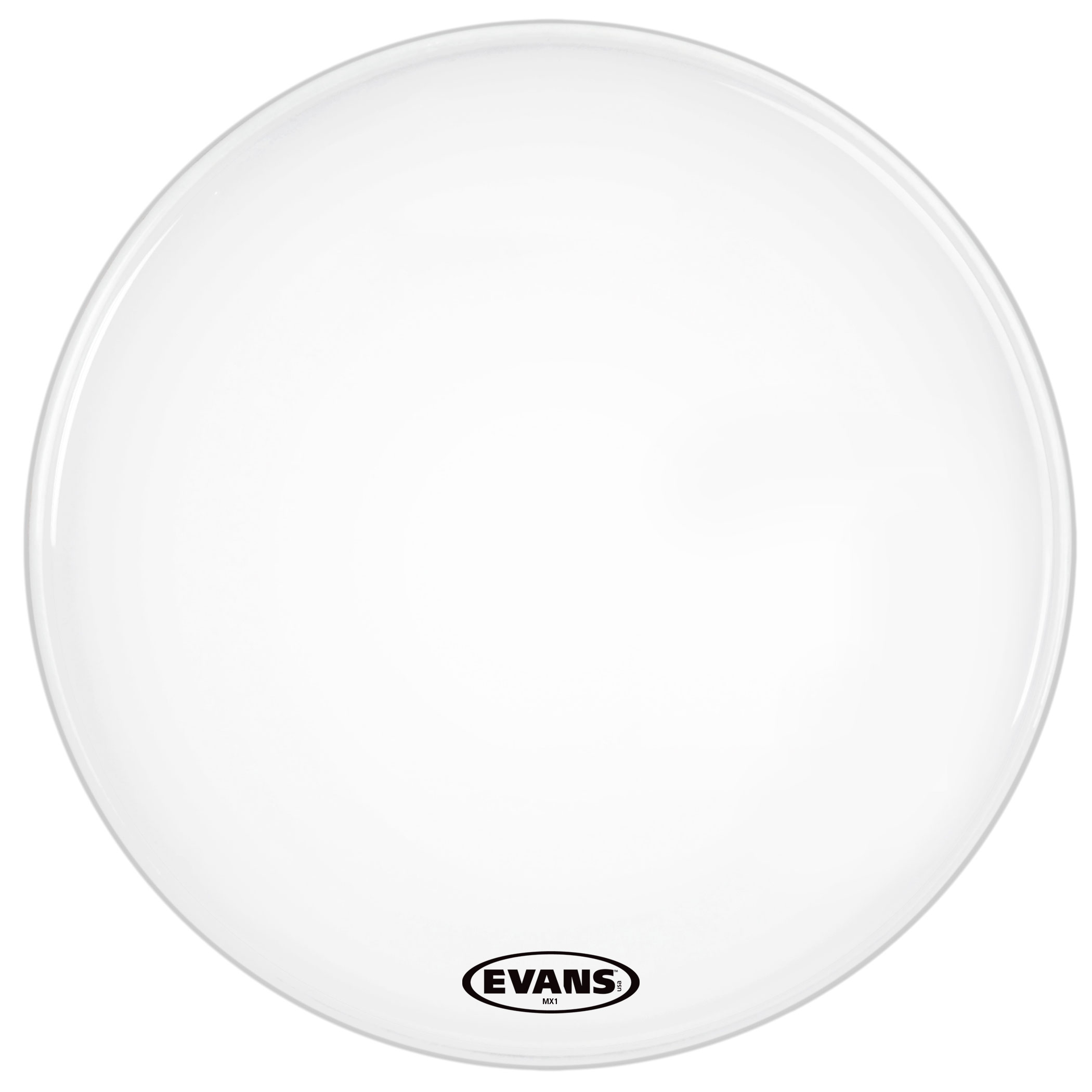 "Evans 18"" MX1 White Marching Bass Head"