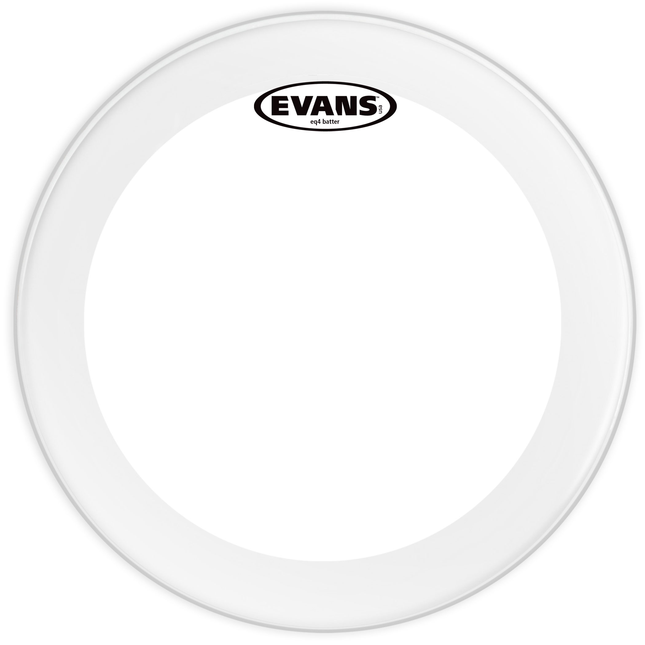 "Evans 20"" EQ4 Frosted Bass Head"
