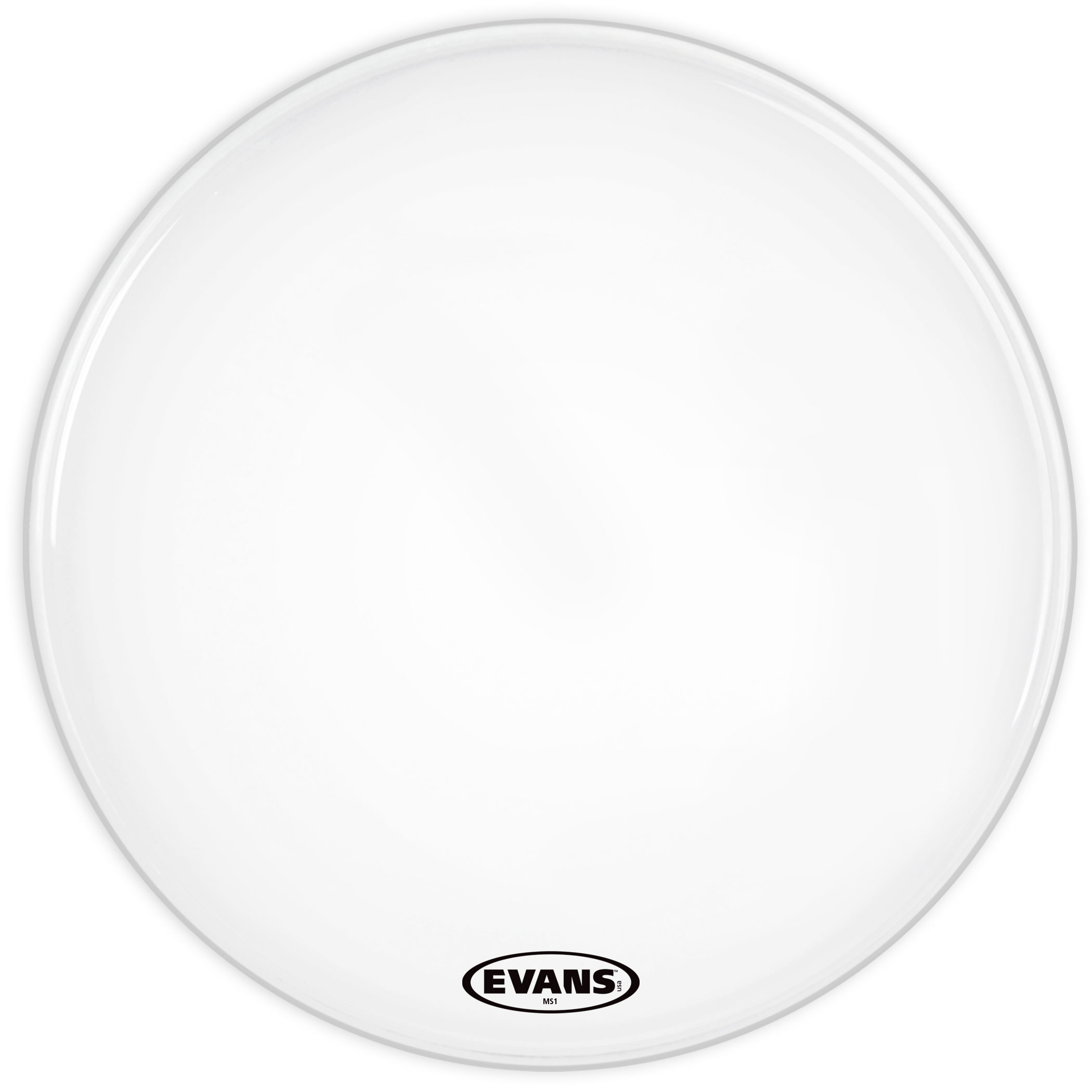 "Evans 22"" MS1 White Marching Bass Head"