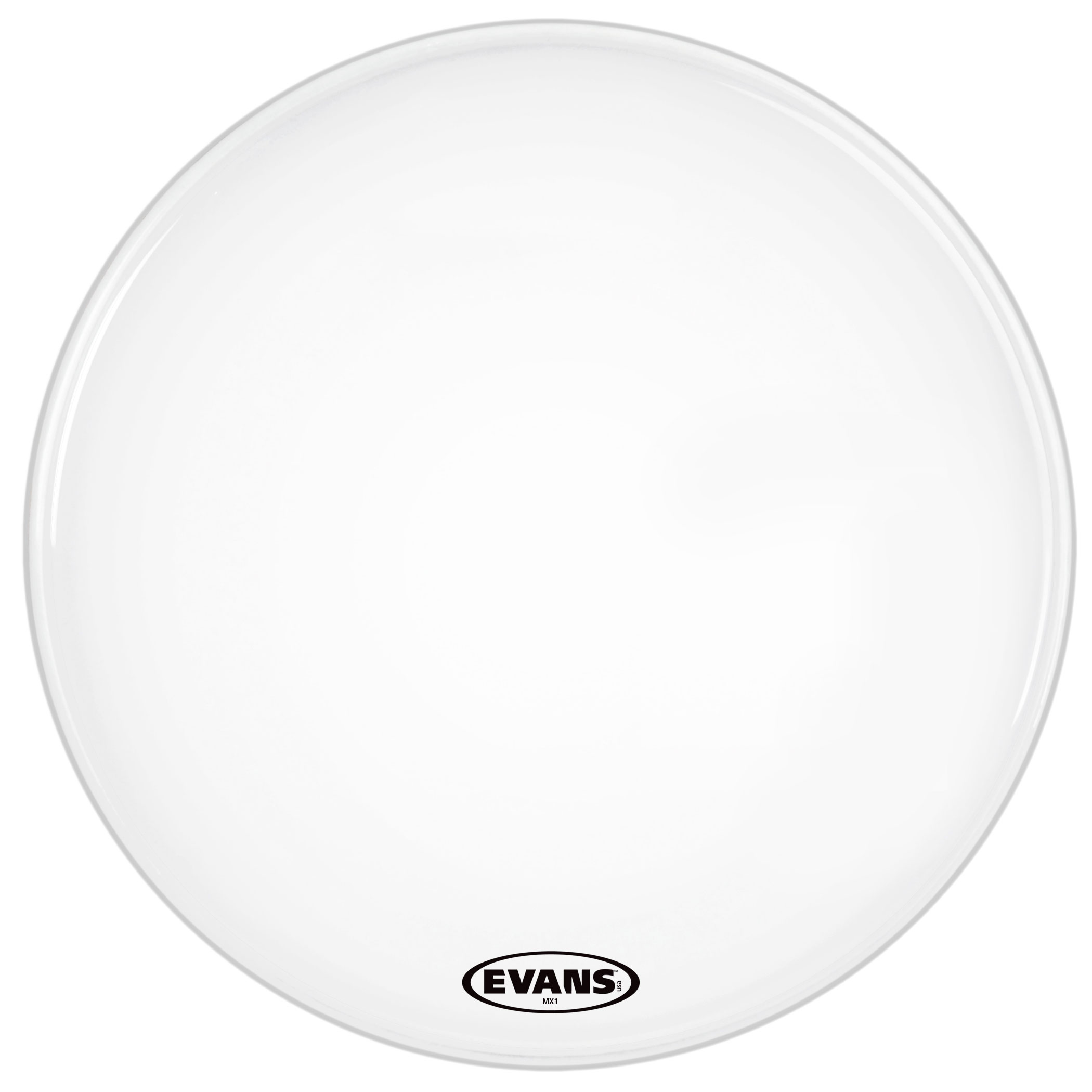 "Evans 24"" MX1 White Marching Bass Head"