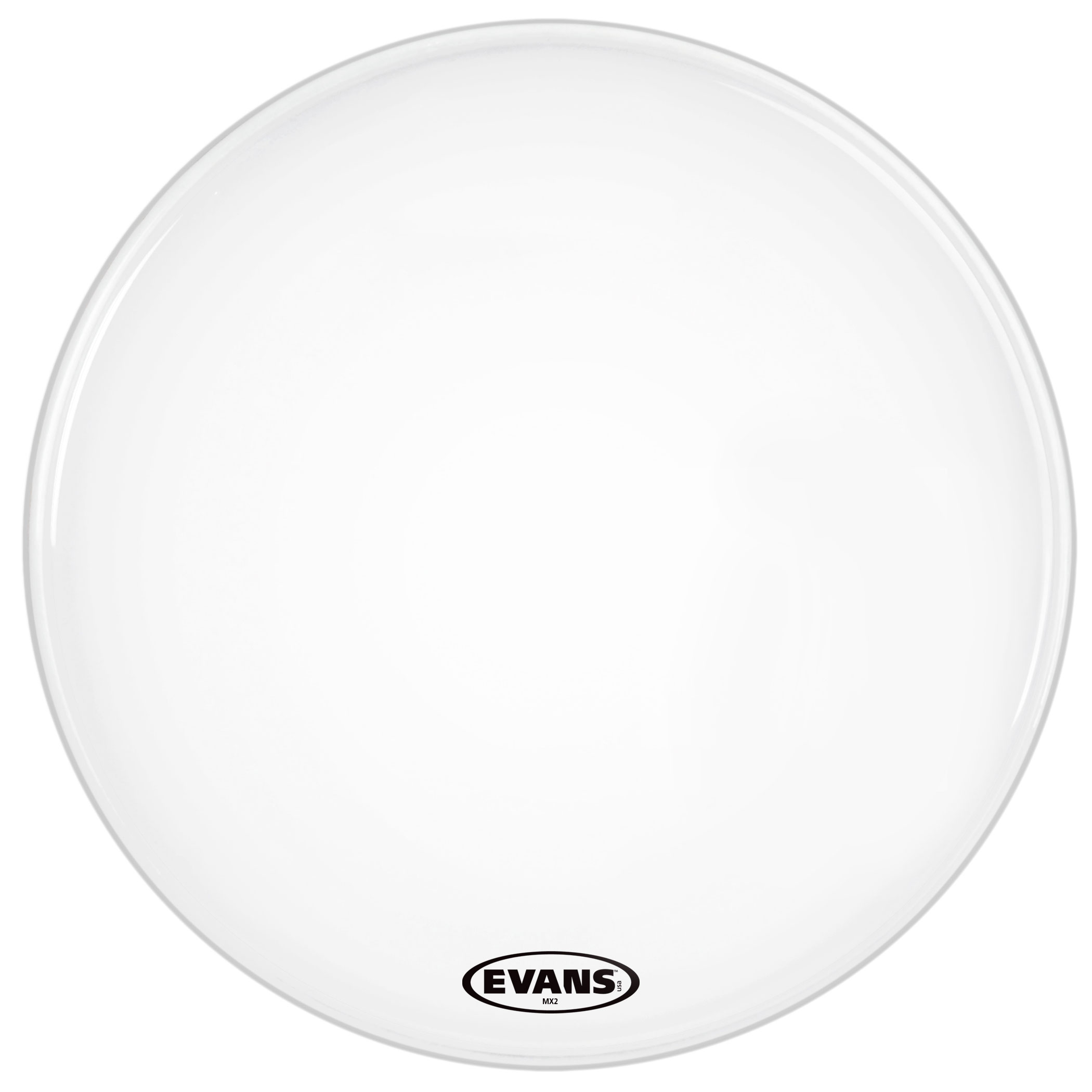 "Evans 26"" MX2 White Marching Bass Head"
