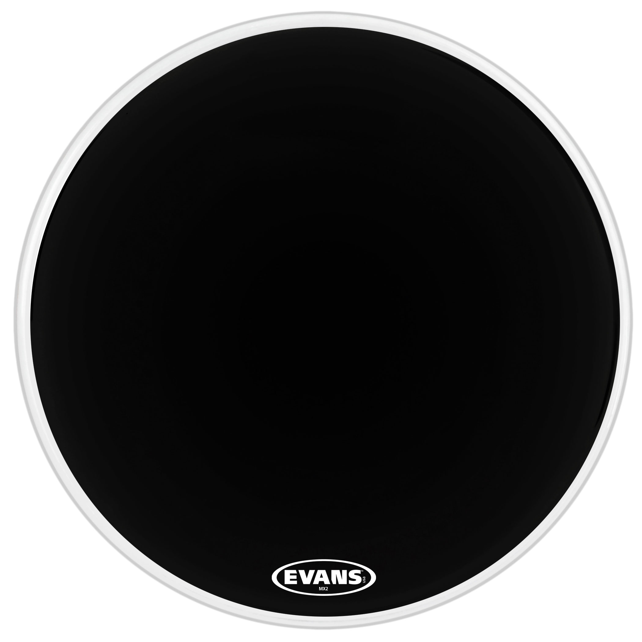 "Evans 28"" MX2 Black Marching Bass Head"