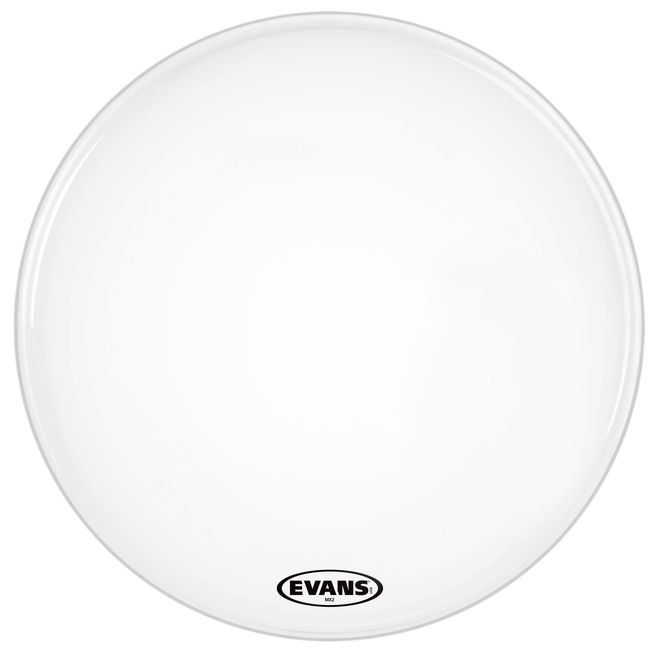 "Evans 28"" MX2 White Marching Bass Head"