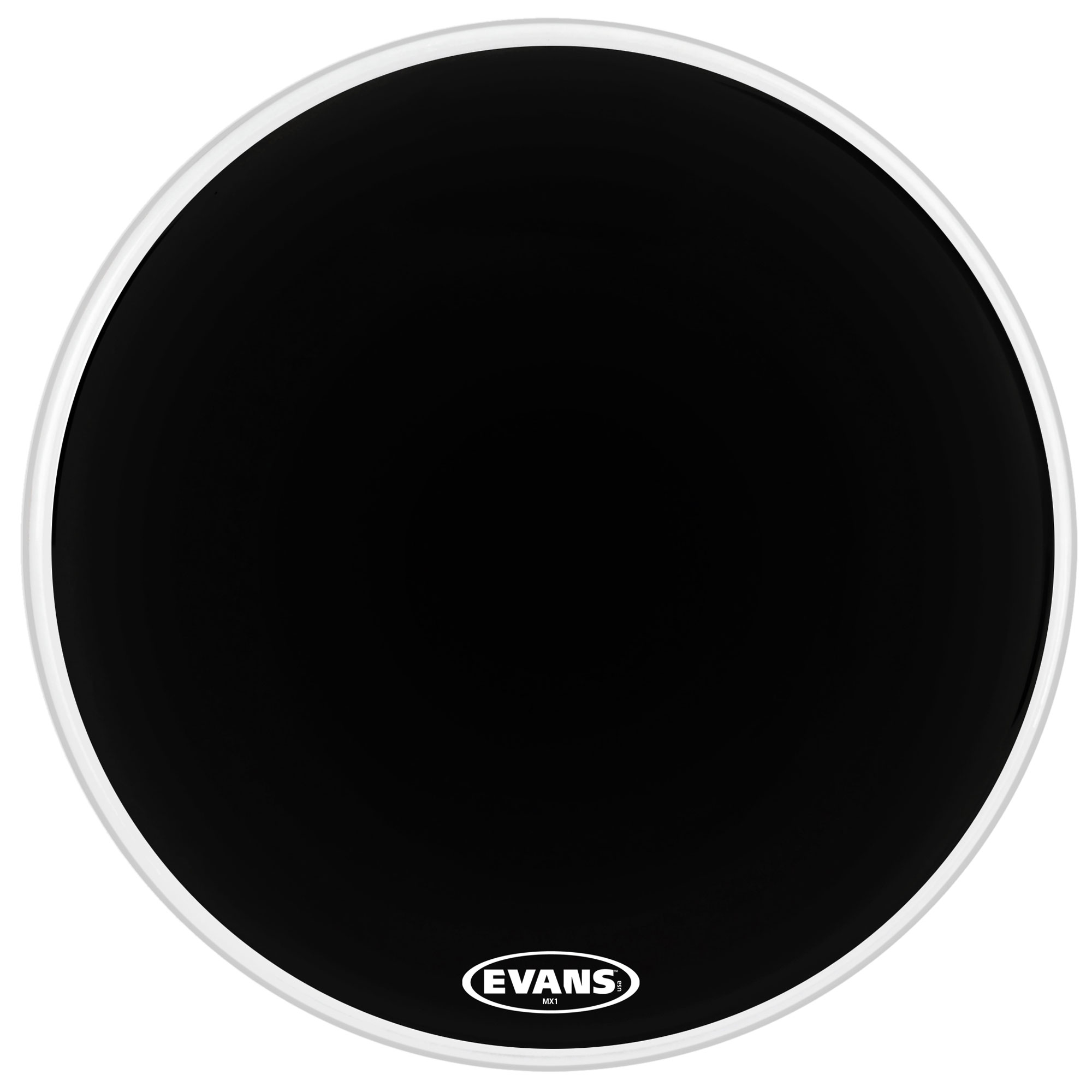 "Evans 30"" MX1 Black Marching Bass Head"