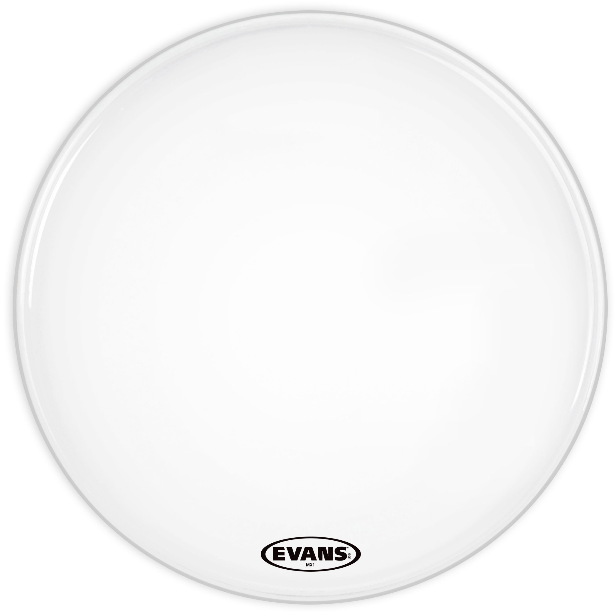 "Evans 30"" MX1 White Marching Bass Head"
