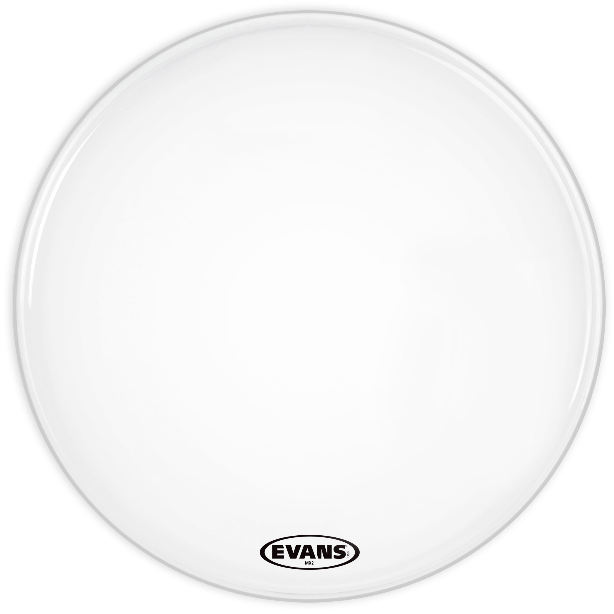 "Evans 30"" MX2 White Marching Bass Head"