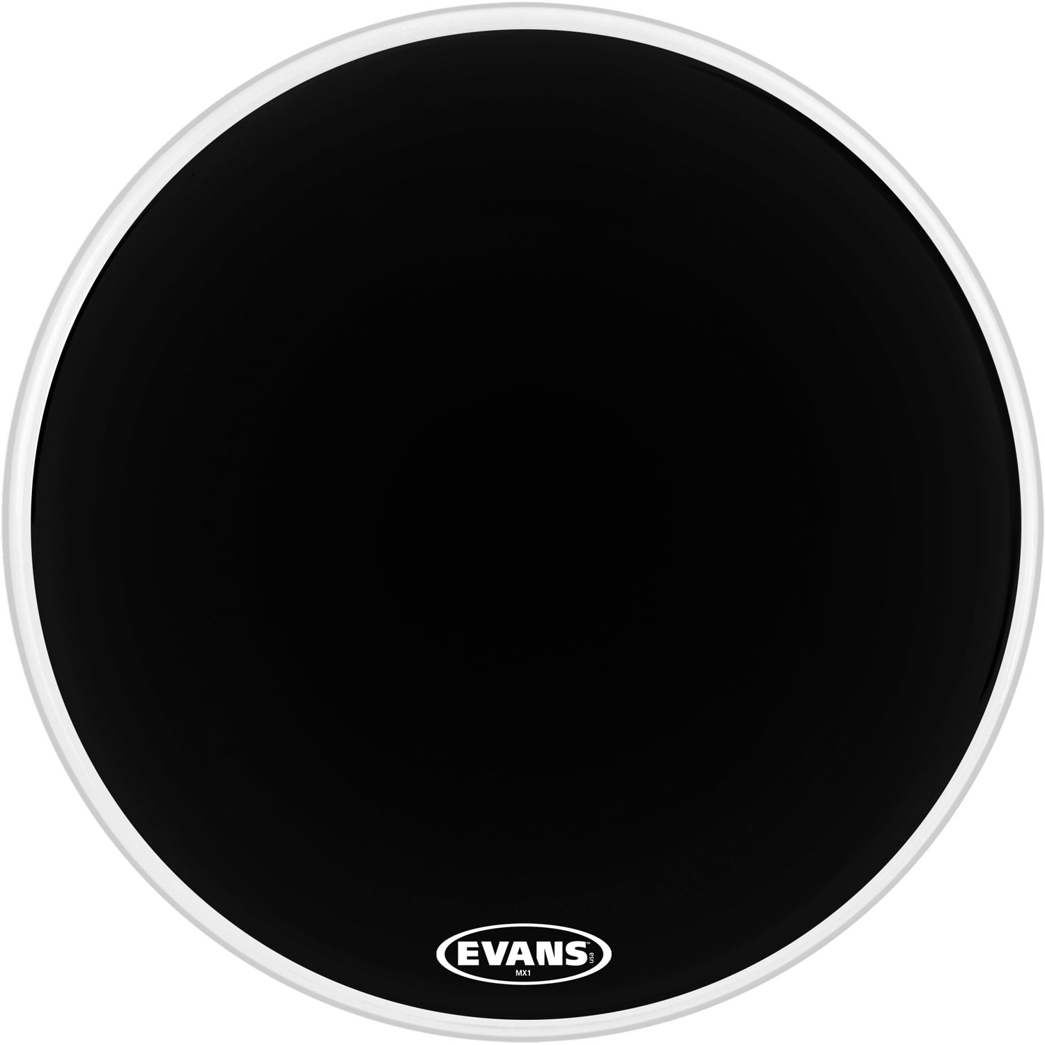 "Evans 32"" MX1 Black Marching Bass Head"