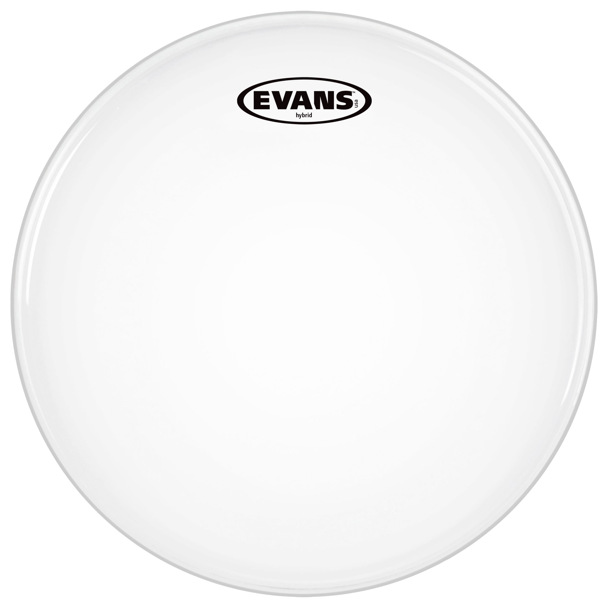 "Evans 13"" Hybrid White Marching Snare Top Head"