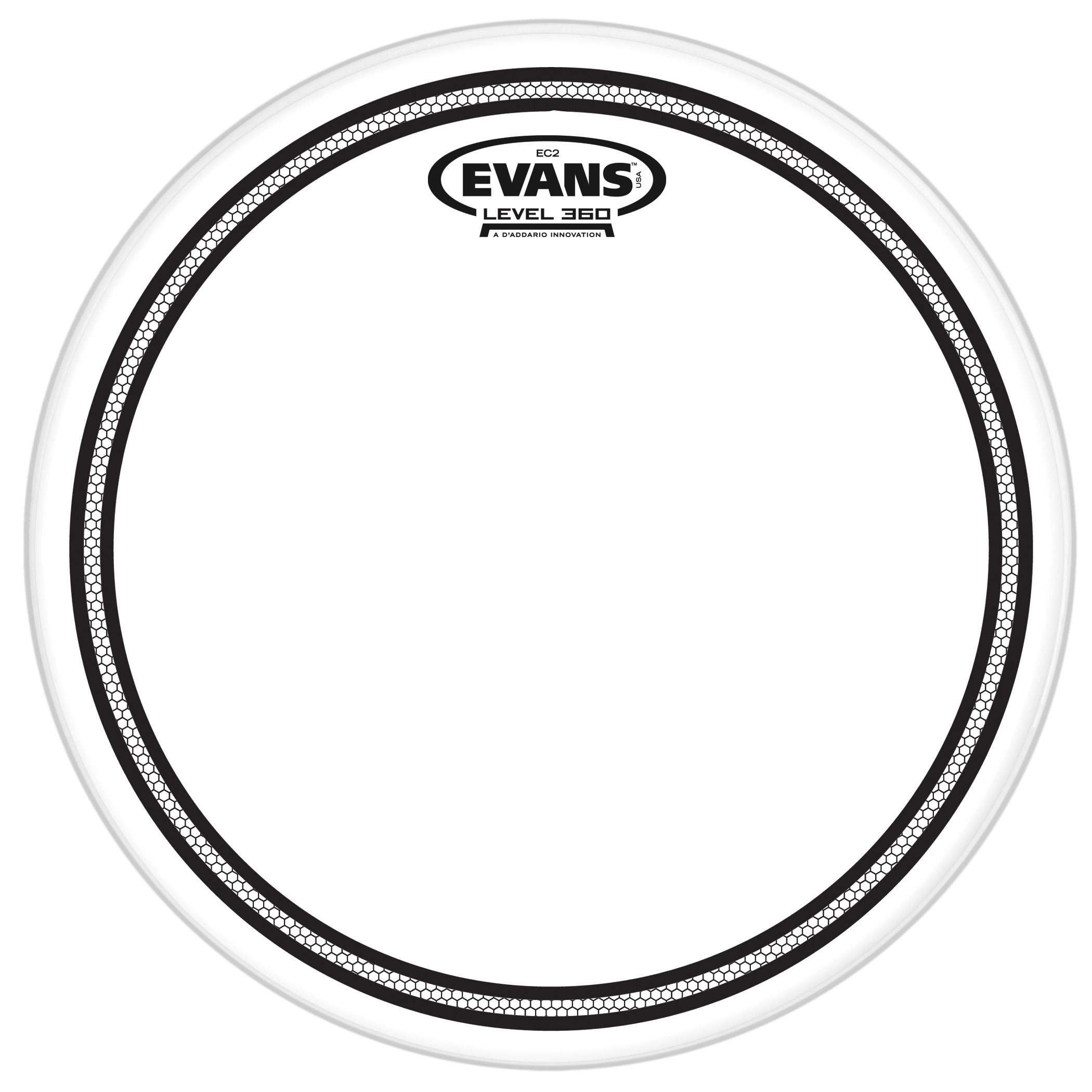 "Evans 12"" EC2S Clear Head"