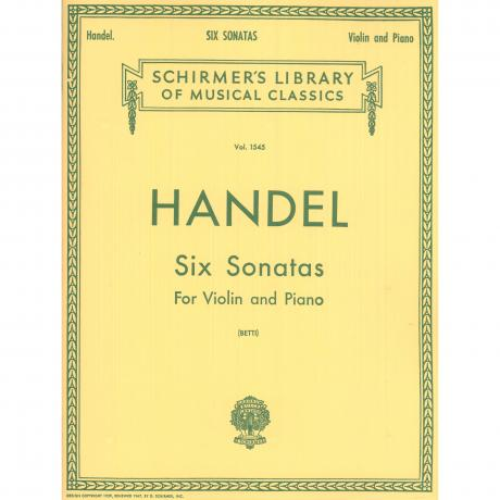 Six Sonatas for Violin and Piano by G. F. Handel ed. Betti