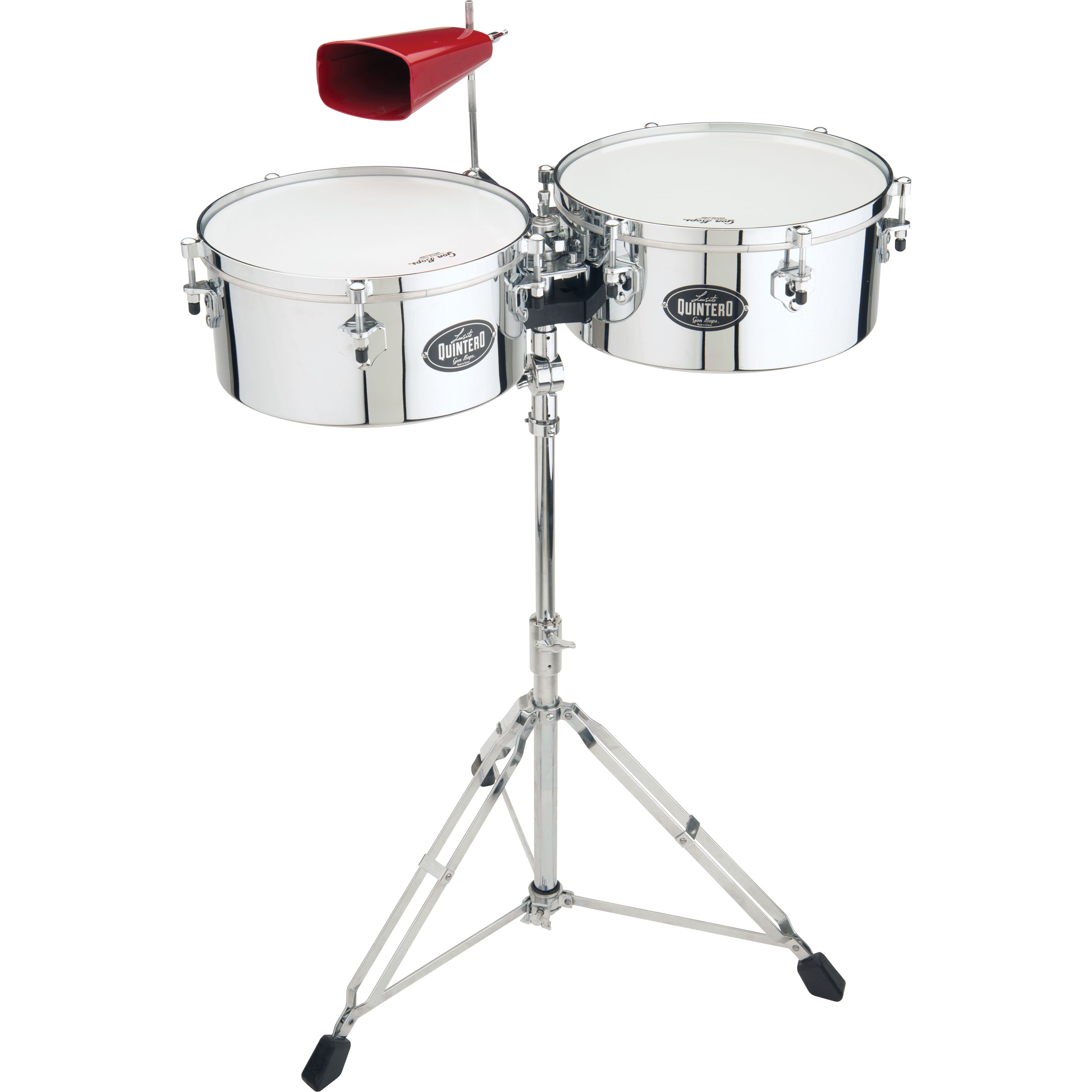 "Gon Bops 14/15"" Luisito Quintero Signature Timbales with Stand"
