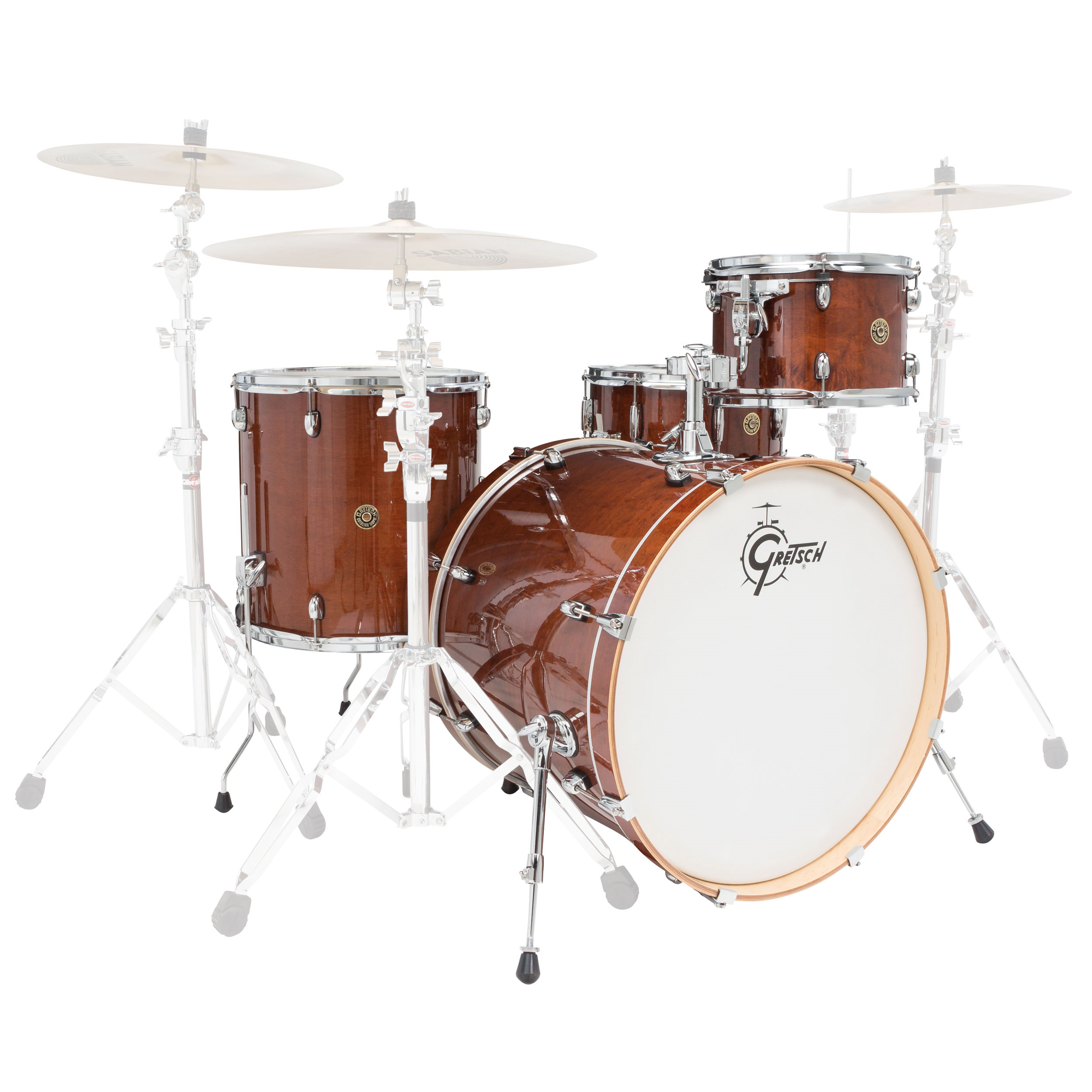 gretsch catalina maple 4 piece rock shell pack 22 bass 12 16 toms 14 snare cm1 e824s. Black Bedroom Furniture Sets. Home Design Ideas