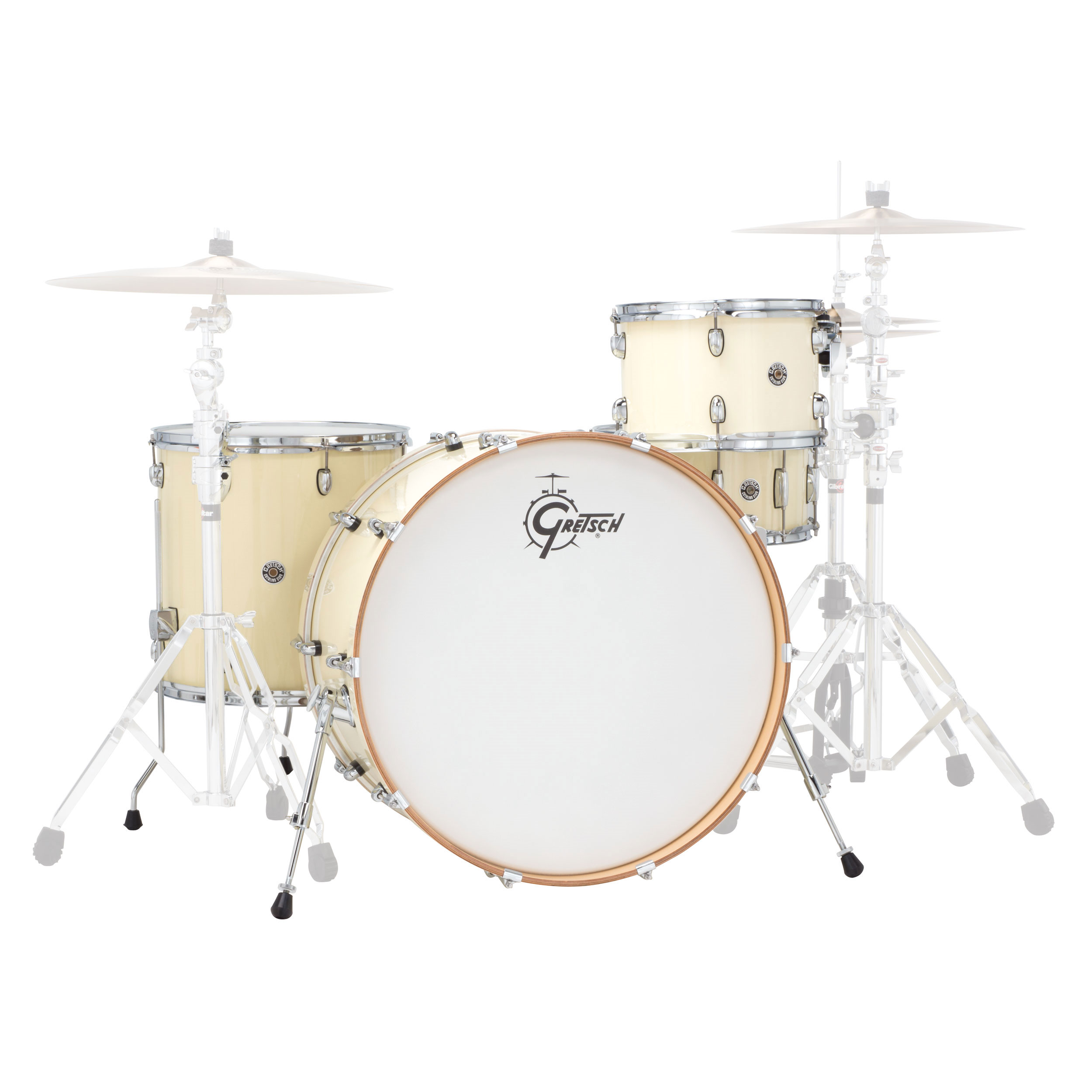 "Gretsch Catalina Club Rock 4-Piece Drum Set Shell Pack (24"" Bass, 12/16"" Toms, 14"" Snare) with Satin Finish"
