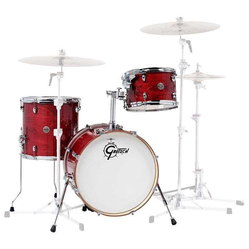 "Gretsch Limited Edition Catalina Club Jazz 3-Piece Drum Set Shell Pack (18"" Bass, 12/14"" Toms) in Gloss Rosewood"