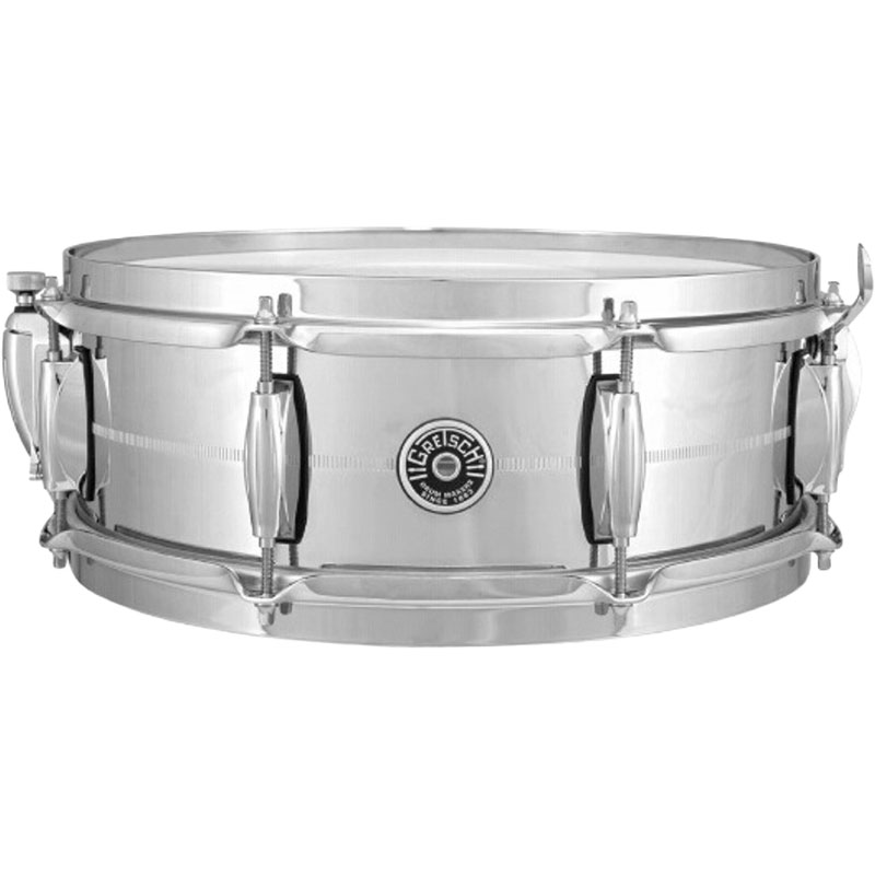 "Gretsch 5"" x 14"" USA Brooklyn Metal Chrome Brass Snare Drum"