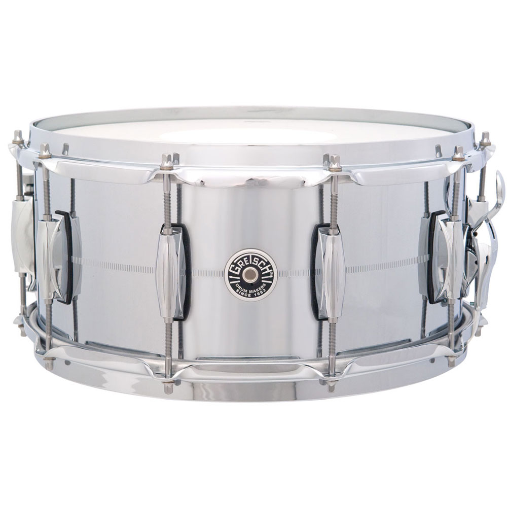 "Gretsch 6.5"" x 14"" USA Brooklyn Metal Chrome Brass Snare Drum"