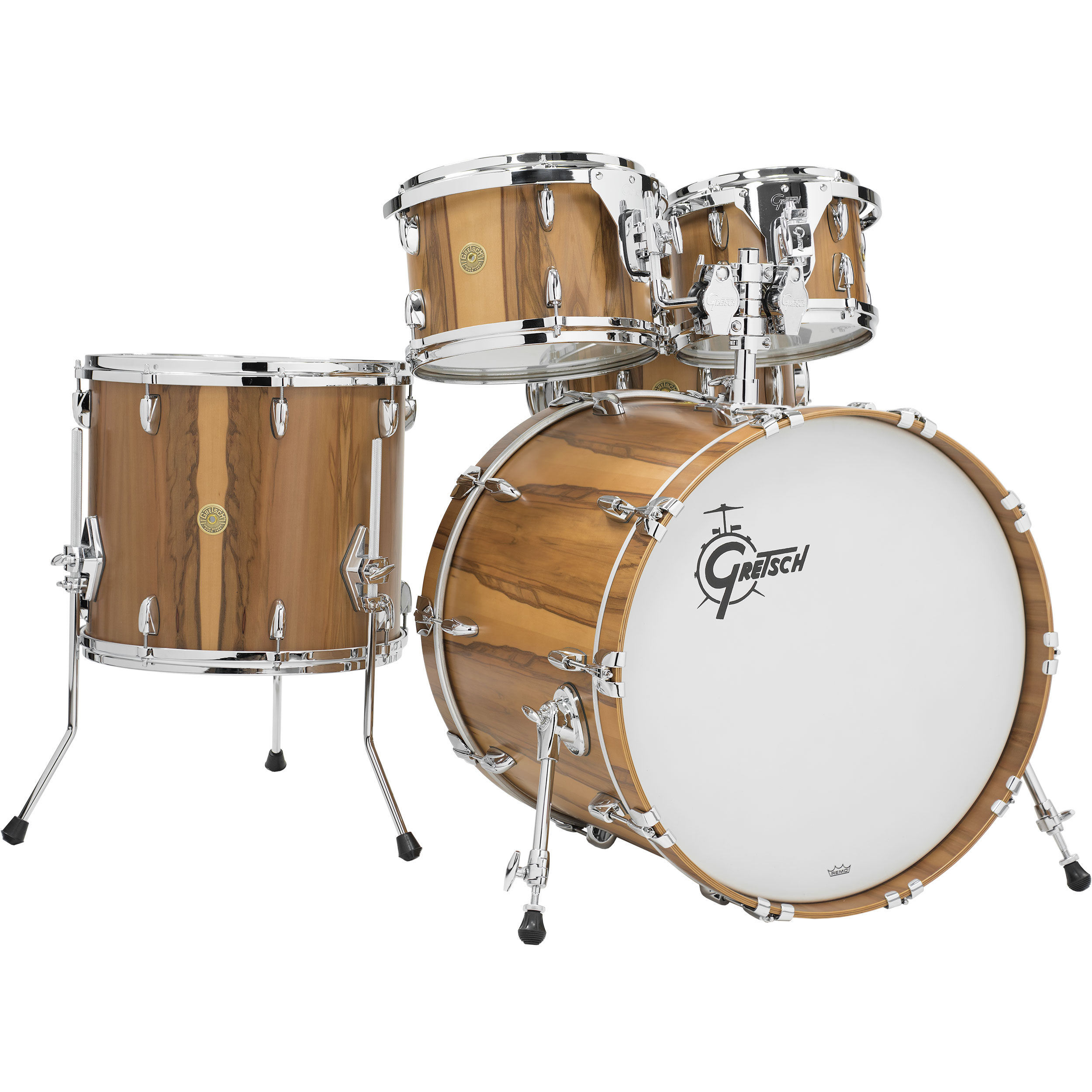 """Gretsch Limited Edition USA Custom Exotic Red Gum 5-Piece Drum Set Shell Pack (22"""" Bass, 10/12/16"""" Toms, 14"""" Snare)"""