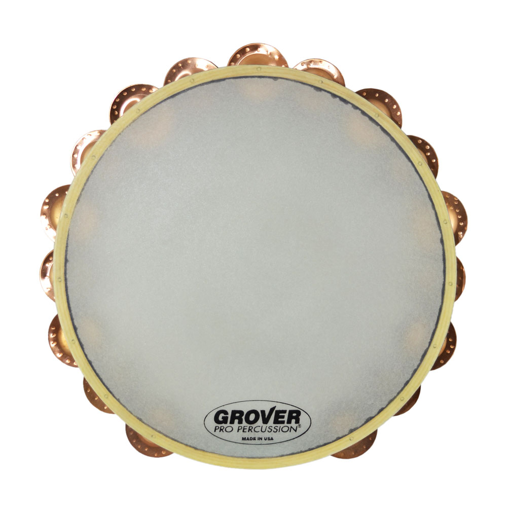 "Grover Pro 10"" X-Series Double Row Beryllium Copper Tambourine (Synthetic Head)"
