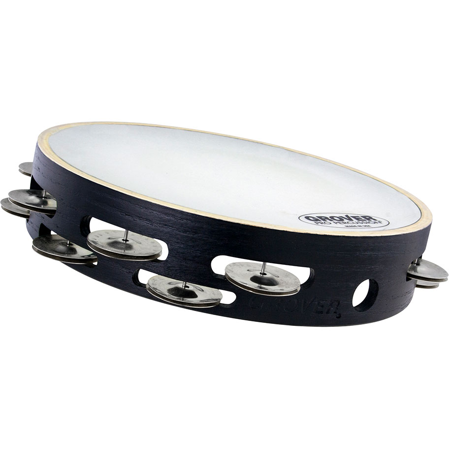 "Grover Pro 10"" X-Series Double-Row German Silver Tambourine (Synthetic Head)"