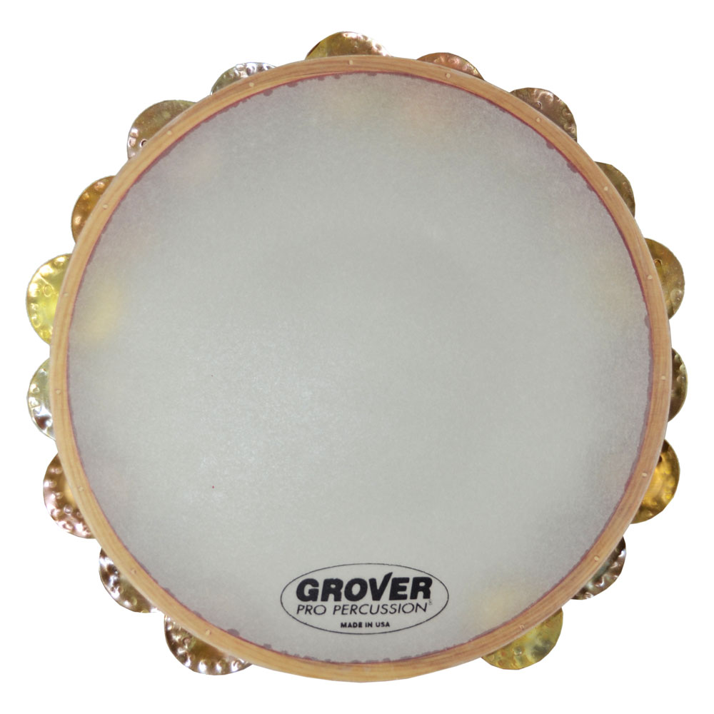 """Grover Pro 10"""" X-Series Double Row Heat-Treated Copper Tambourine (Synthetic Head)"""