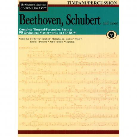 The Orchestra Musician's CD Library (Timpani/Percussion) Vol. 1 - Beethoven and Shubert