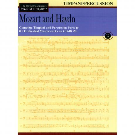 The Orchestra Musician's CD Library (Timpani/Percussion) Vol. 6 - Mozart and Haydn