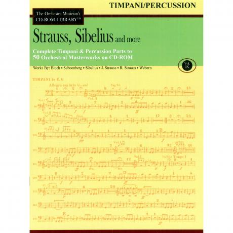 The Orchestra Musician's CD Library (Timpani/Percussion) Vol. 9 - Strauss, Sibelius, and More