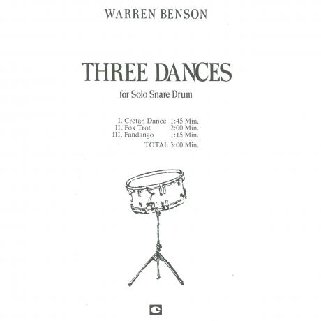 Three Dances for Solo Snare Drum by Warren Benson