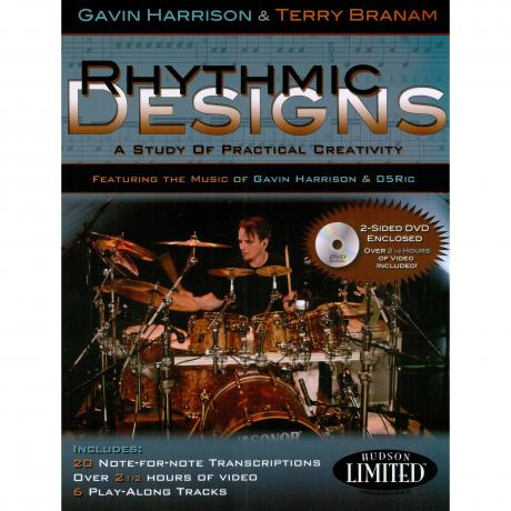 Hal Leonard Rhythmic Designs Book & DVD by Gavin Harrison