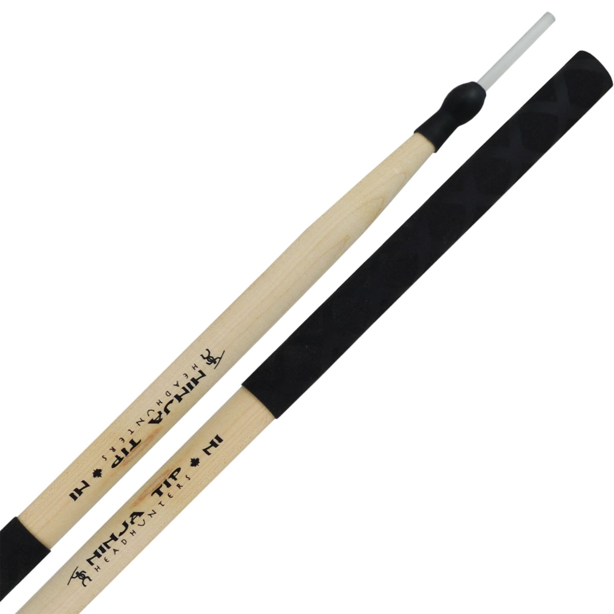 "Headhunters Ninja Tip ""Ni"" Poly Rod Hybrid Drum Sticks"