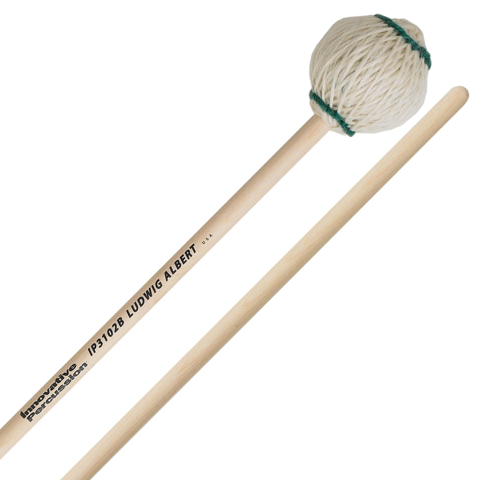 Innovative Percussion Ludwig Albert Medium Signature Very Soft Marimba Mallets with Birch Shafts