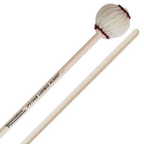 Innovative Percussion Ludwig Albert Signature Medium Soft Marimba Mallets with Birch Shafts