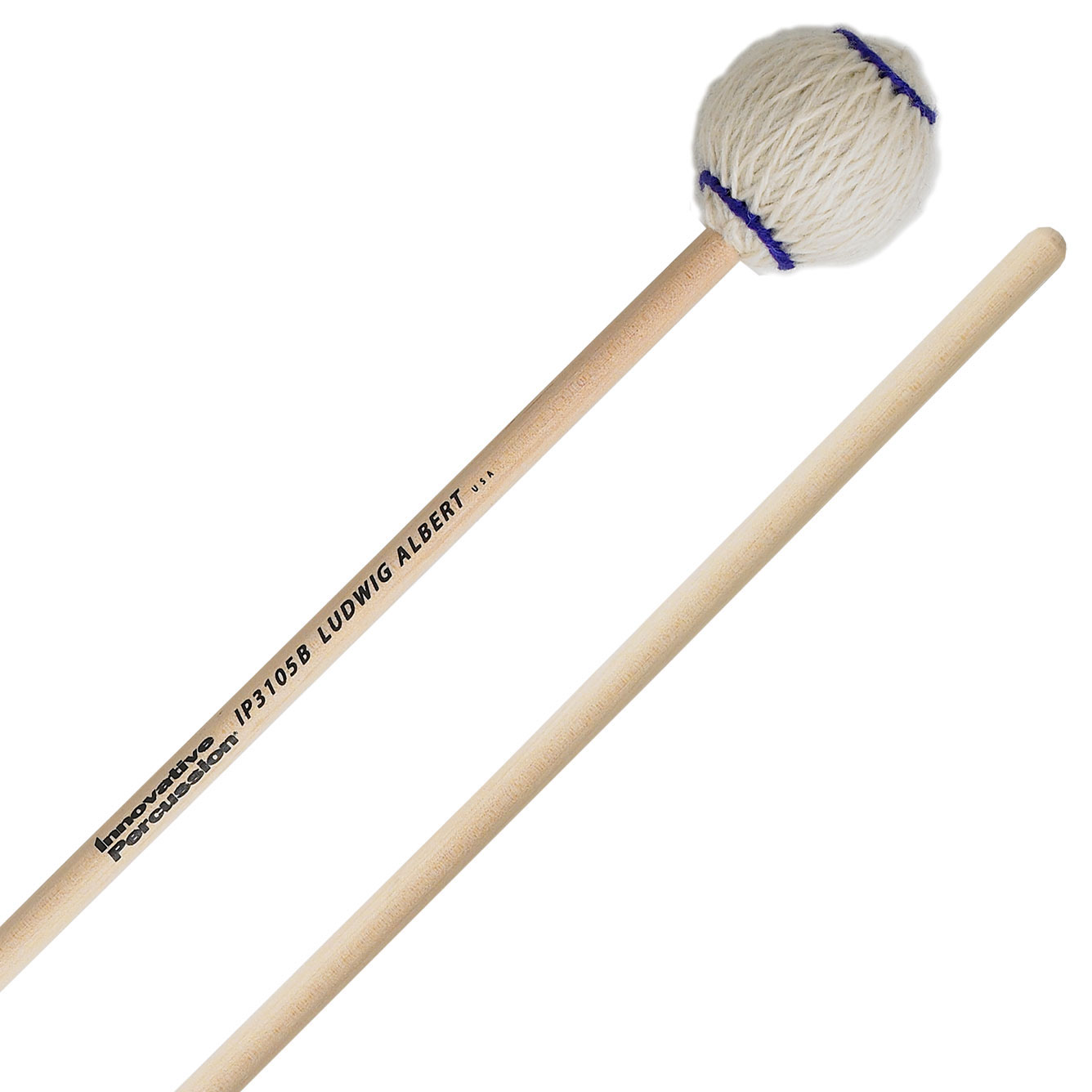 Innovative Percussion Ludwig Albert Signature Medium Marimba Mallets with Birch Shafts