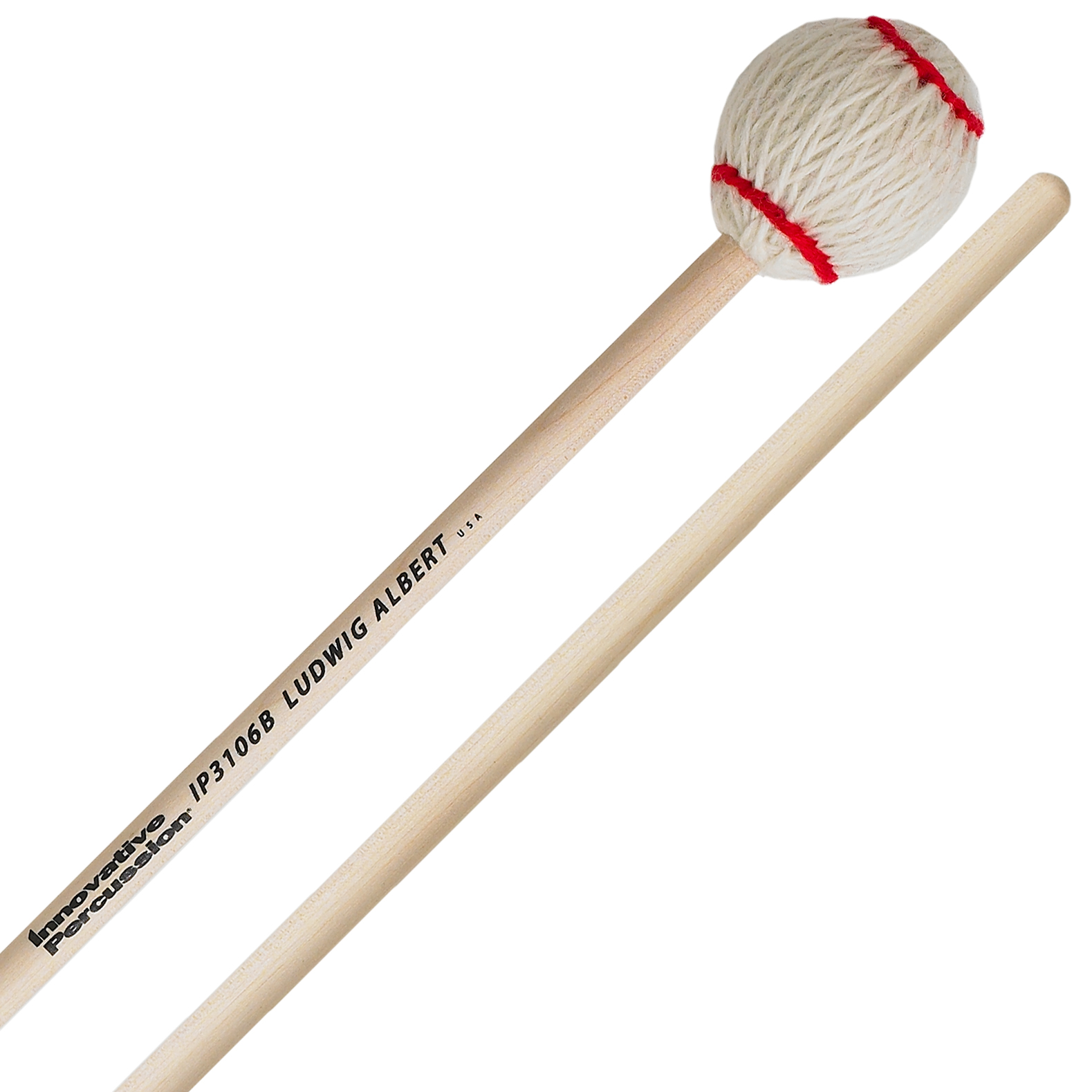 Innovative Percussion Ludwig Albert Signature Medium Hard Marimba Mallets with Birch Shafts