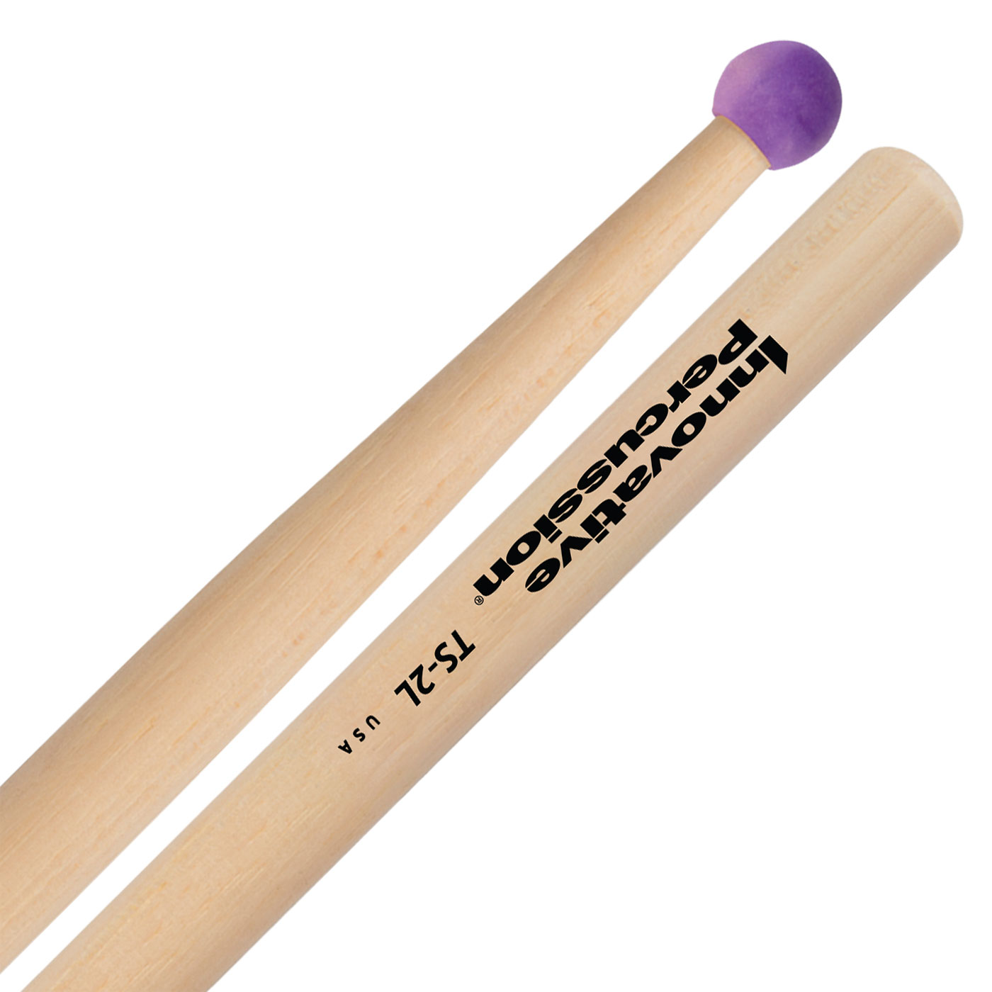 Innovative Percussion TS-2L Field Series Marching Tenor Sticks with Nylon Bead