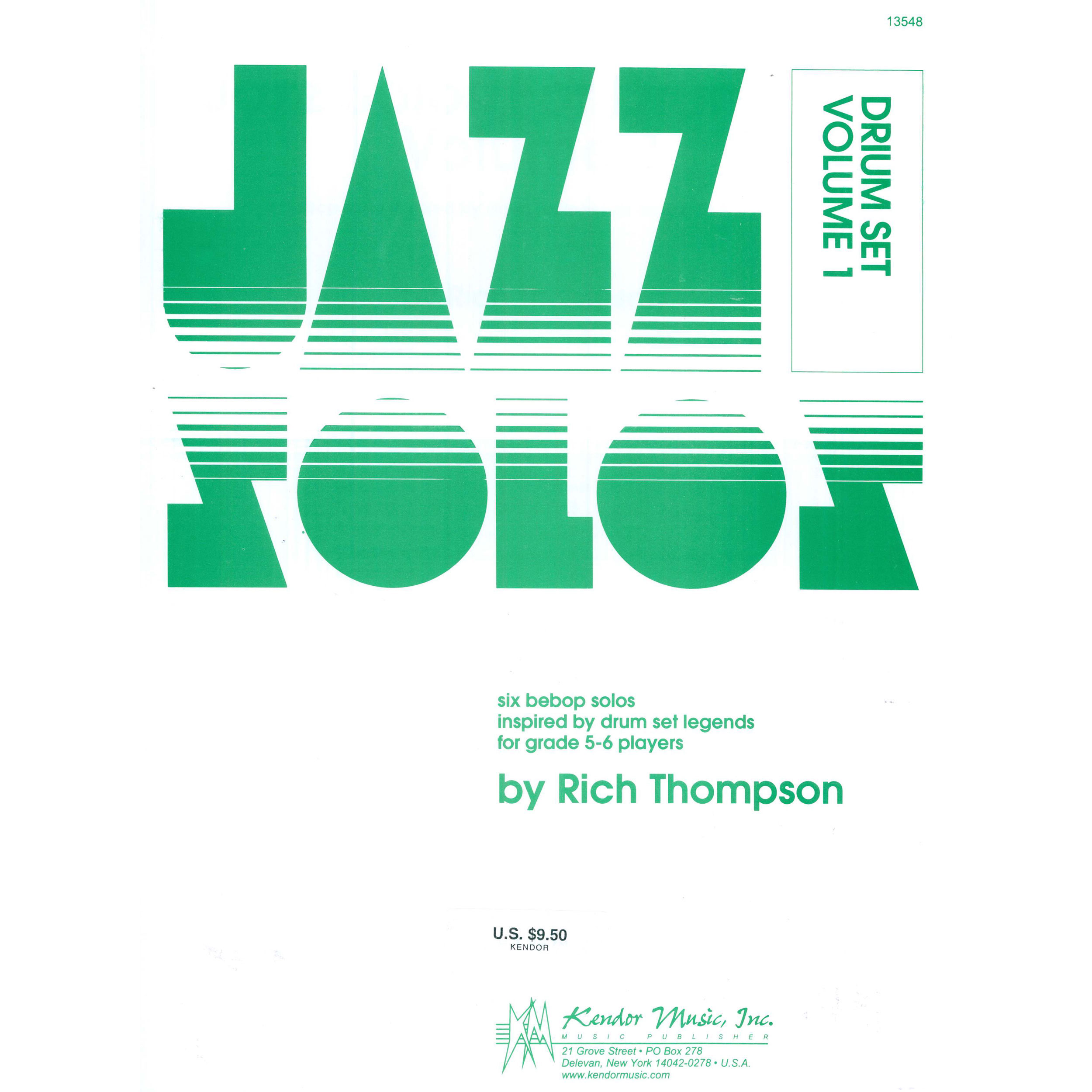 Jazz Solos For Drum Set, Vol. 1 by Rich Thompson