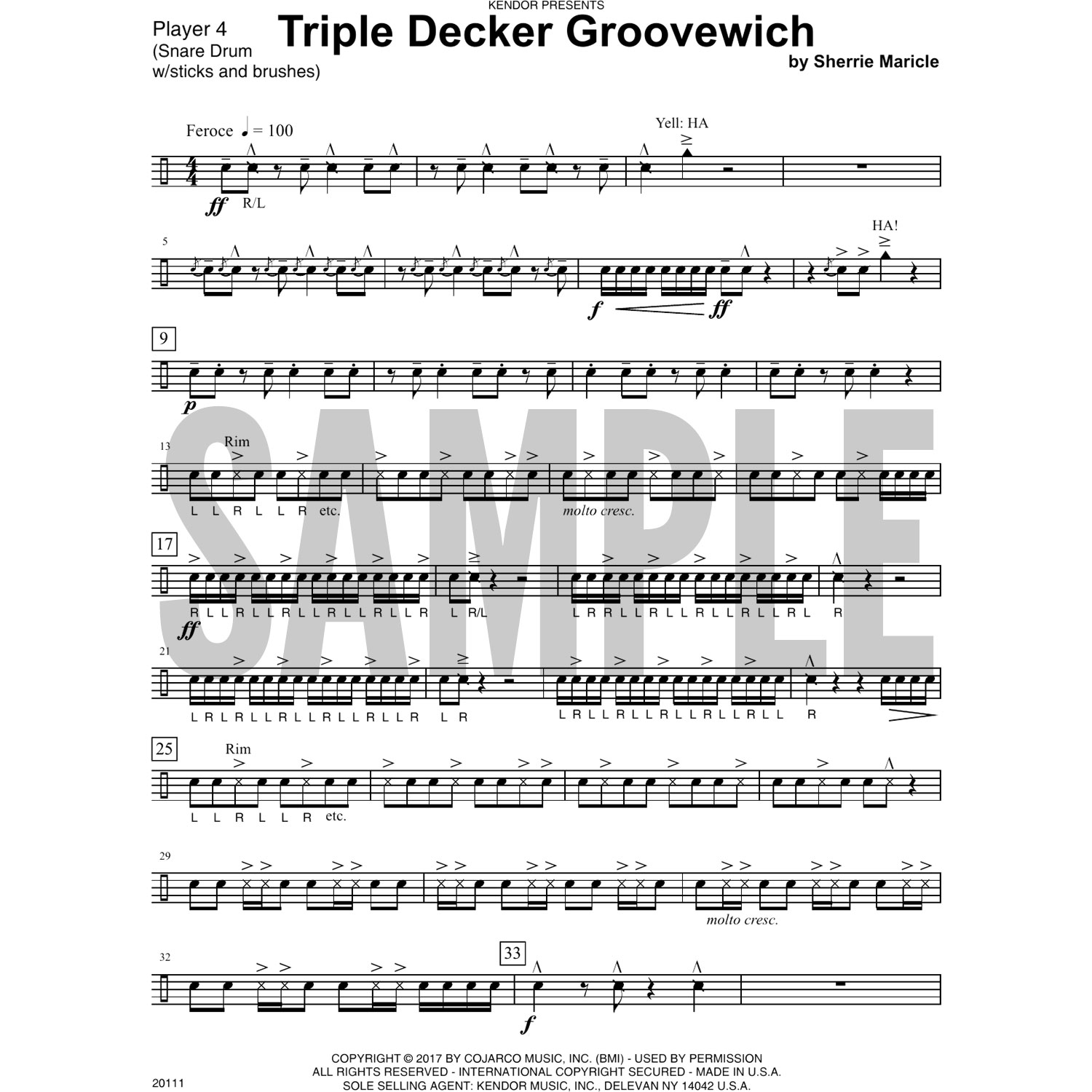 Triple Decker Groovewich by Sherrie Maricle