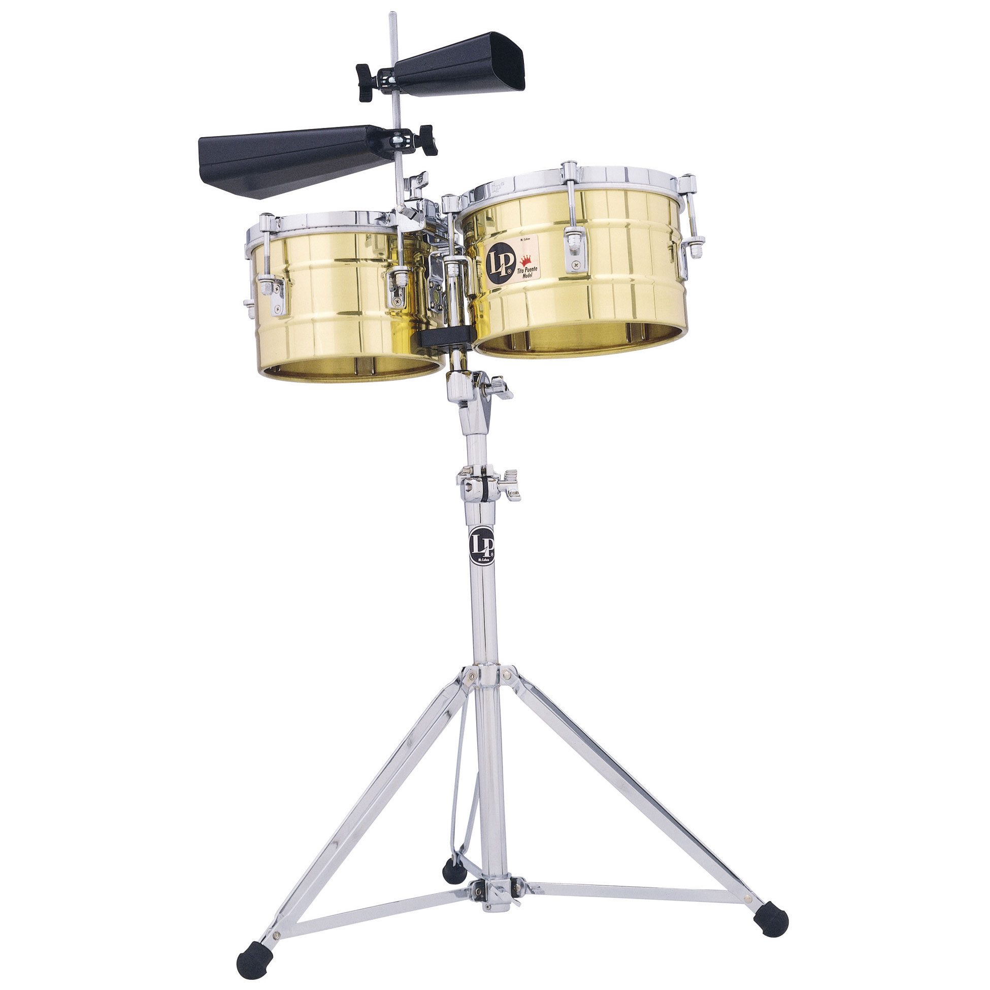 """LP 9.25/10.25"""" Tito Puente Bronze Timbalitos (Small Timbales)"""