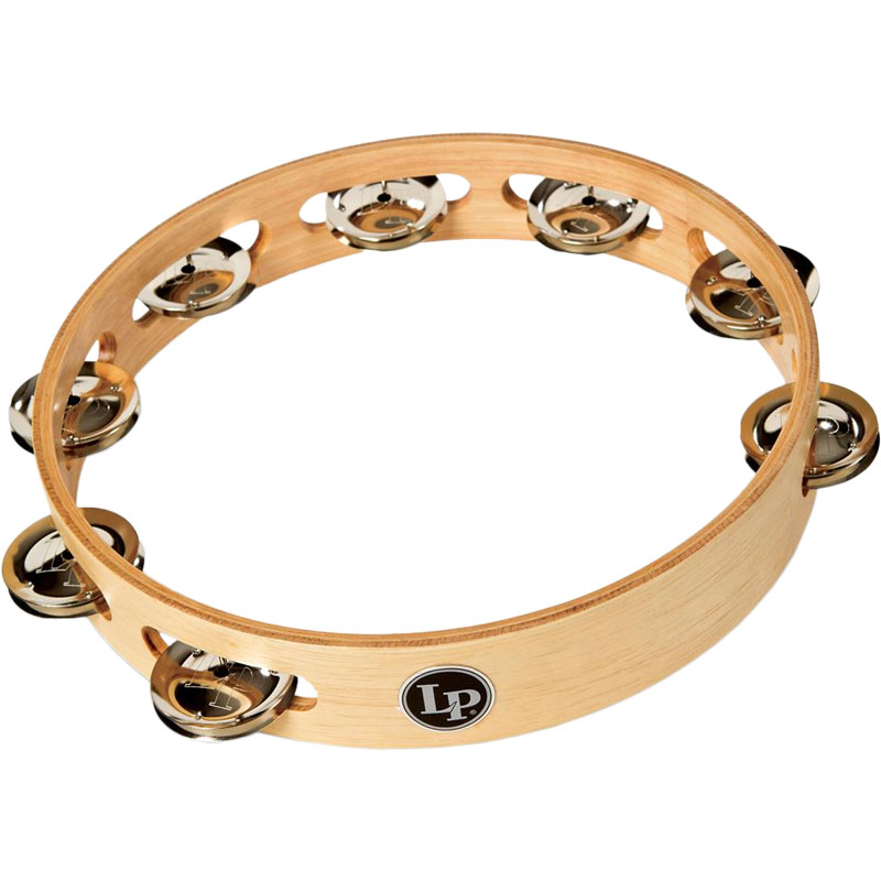 "LP 10"" Accent Single-Row Brass Tambourine"