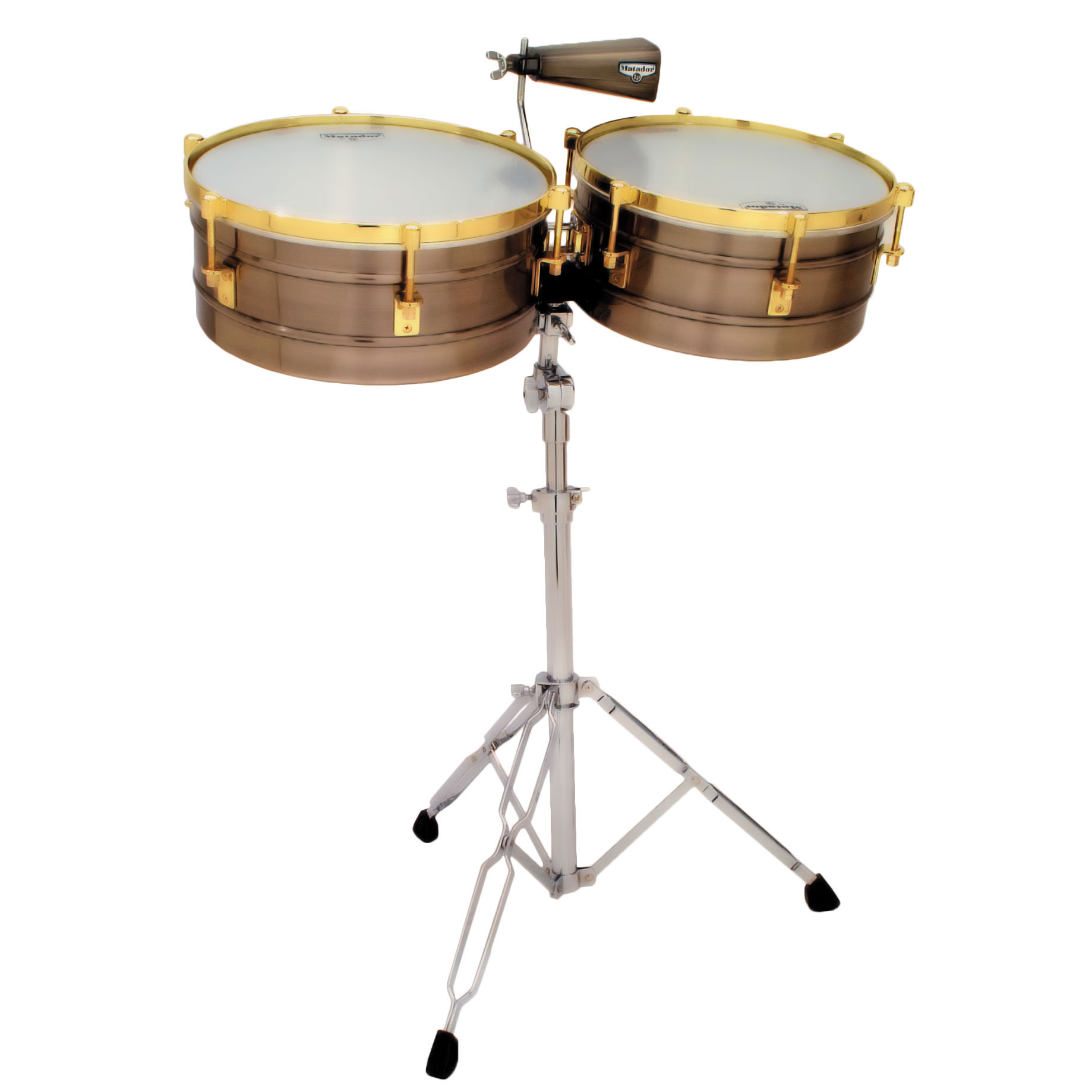 "LP 14"" & 15"" Matador Brushed Nickel/Gold Timbale Set"