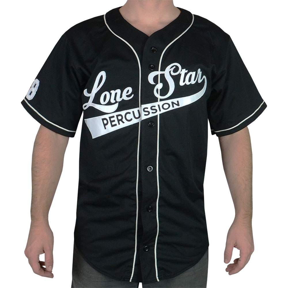 Lone Star Percussion Black Baseball Jersey