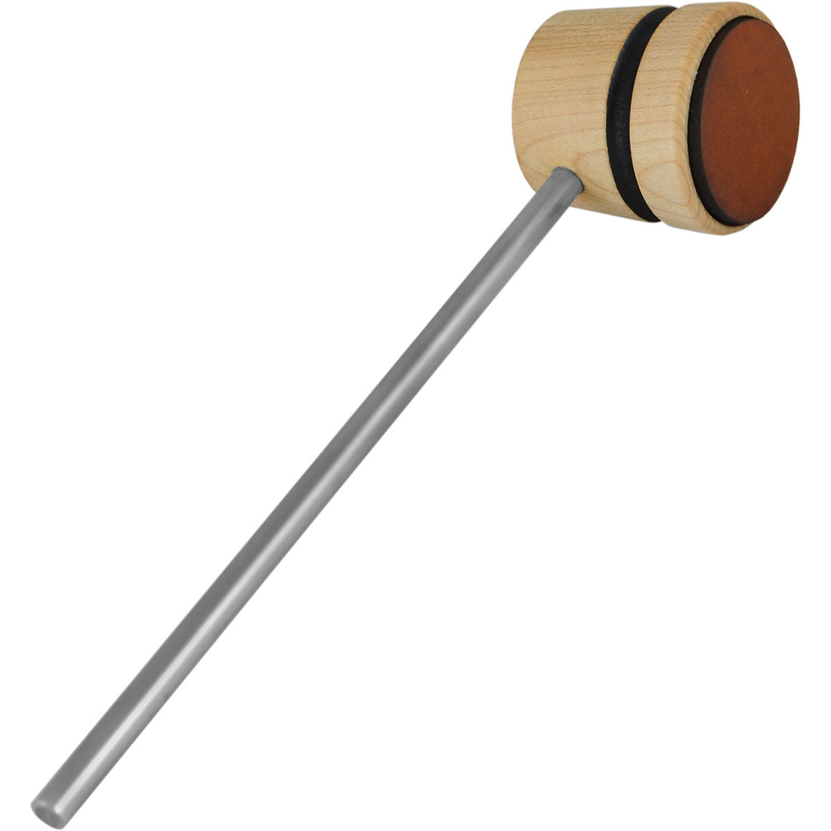 Low Boy Lightweight Leather Daddy Bass Drum Beater with Stripe