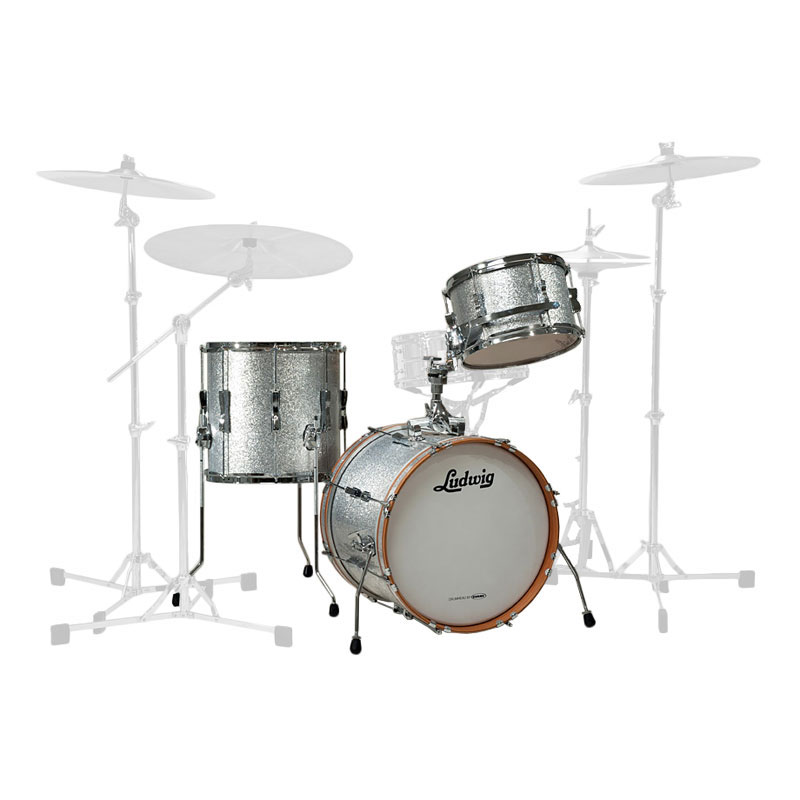 "Ludwig Club Date 3-Piece Drum Set Shell Pack (24"" Bass, 13/16"" Toms)"