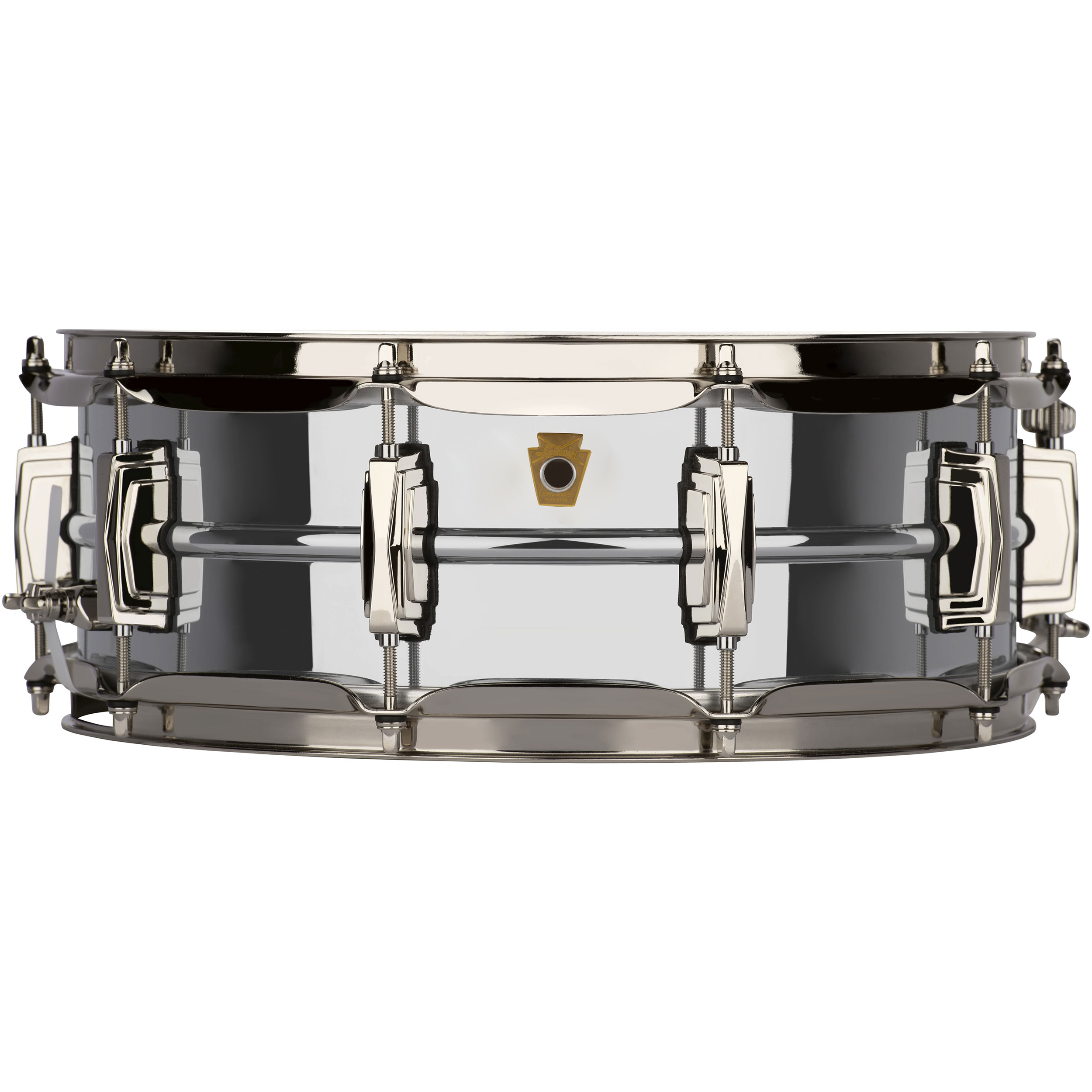 "Ludwig 5"" x 14"" Chrome Plated Brass ""Super Ludwig"" Snare Drum with Nickel Hardware"