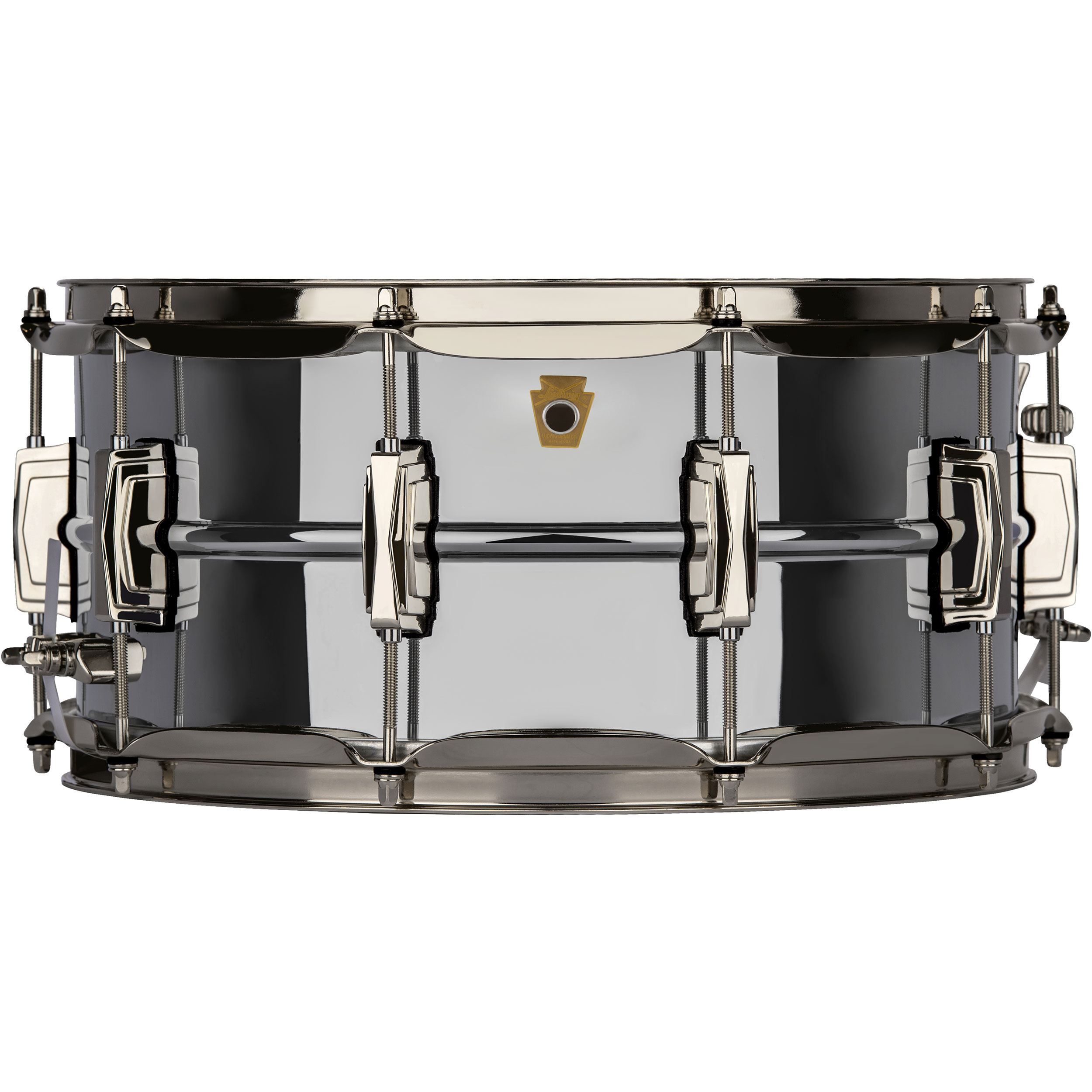 "Ludwig 6.5"" x 14"" Chrome Plated Brass ""Super Ludwig"" Snare Drum with Nickel Hardware"