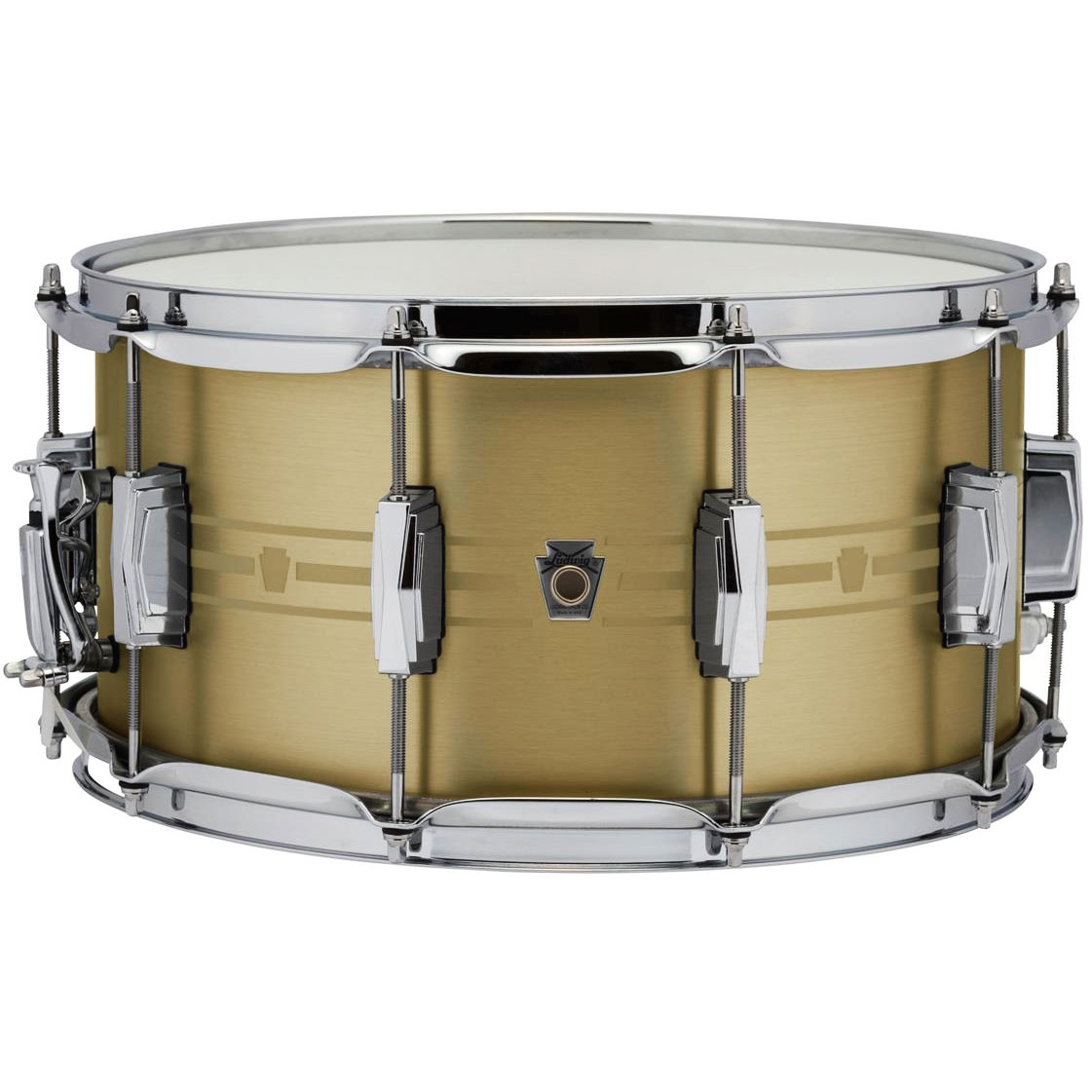 "Ludwig 7"" x 14"" Heirloom Brass Snare Drum"