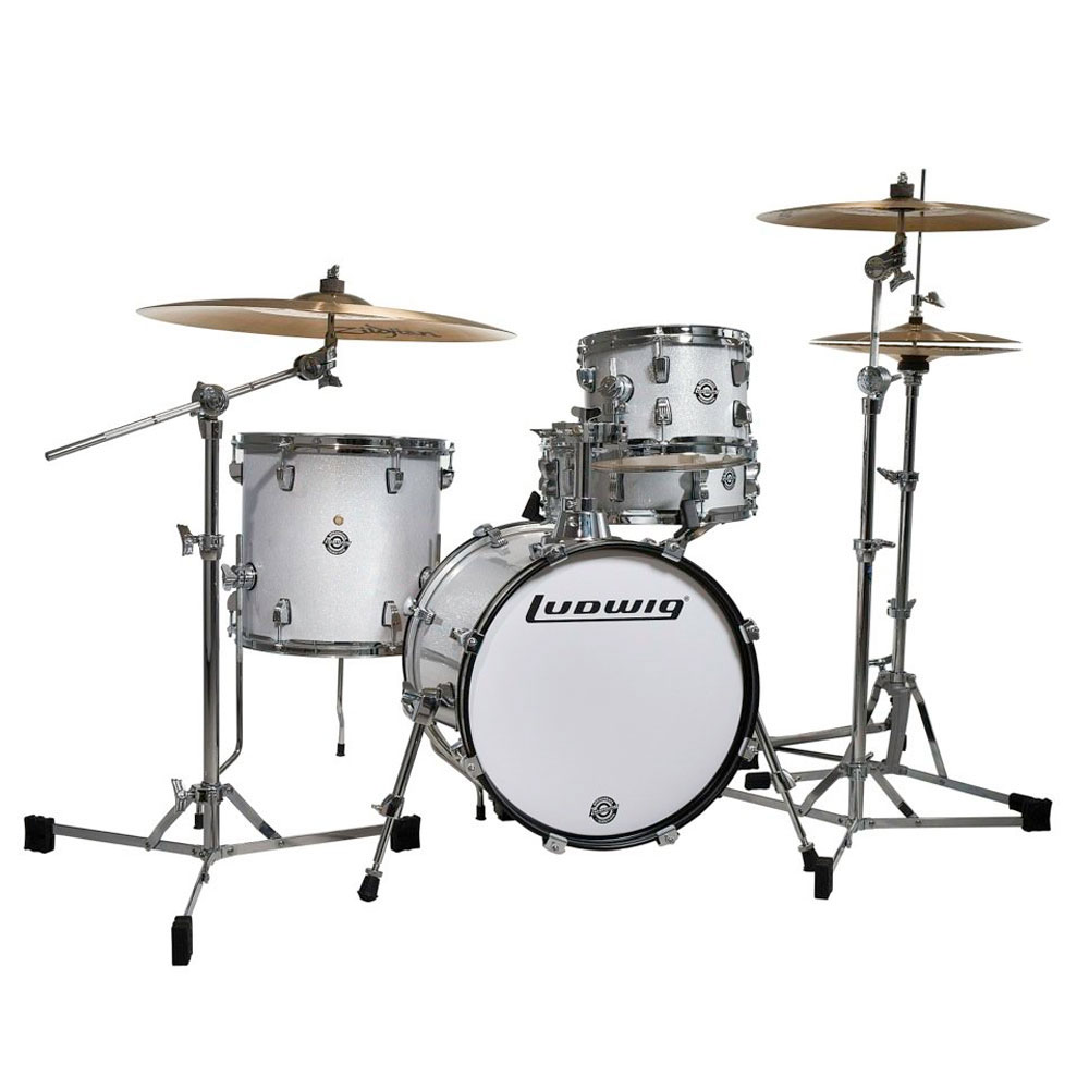 ludwig breakbeats by questlove 4 piece drum set shell pack 16 bass 14 snare 10 13 toms. Black Bedroom Furniture Sets. Home Design Ideas
