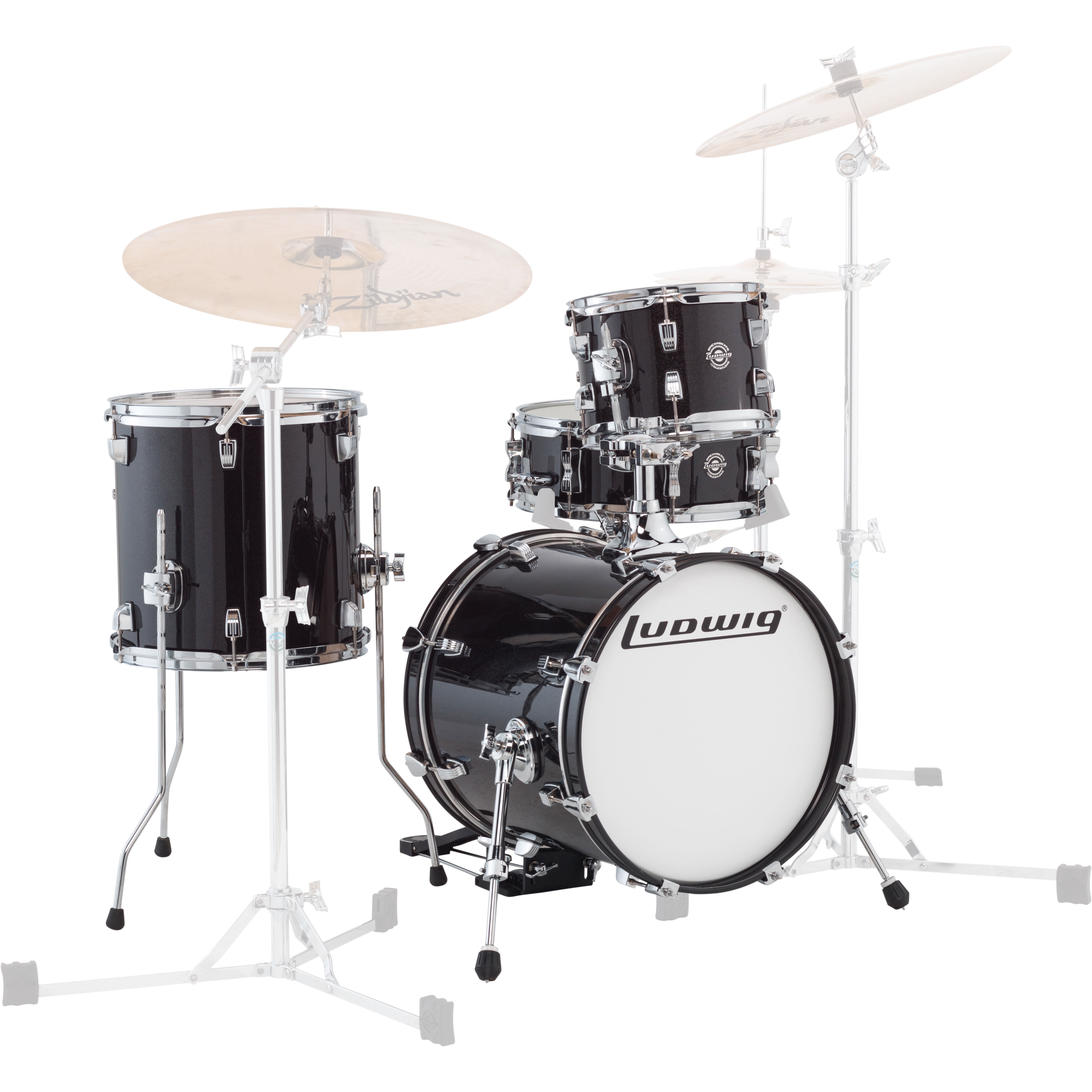 "Ludwig Breakbeats by Questlove 4-Piece Drum Set Shell Pack (16"" Bass, 10/13"" Toms, 14"" Snare)"